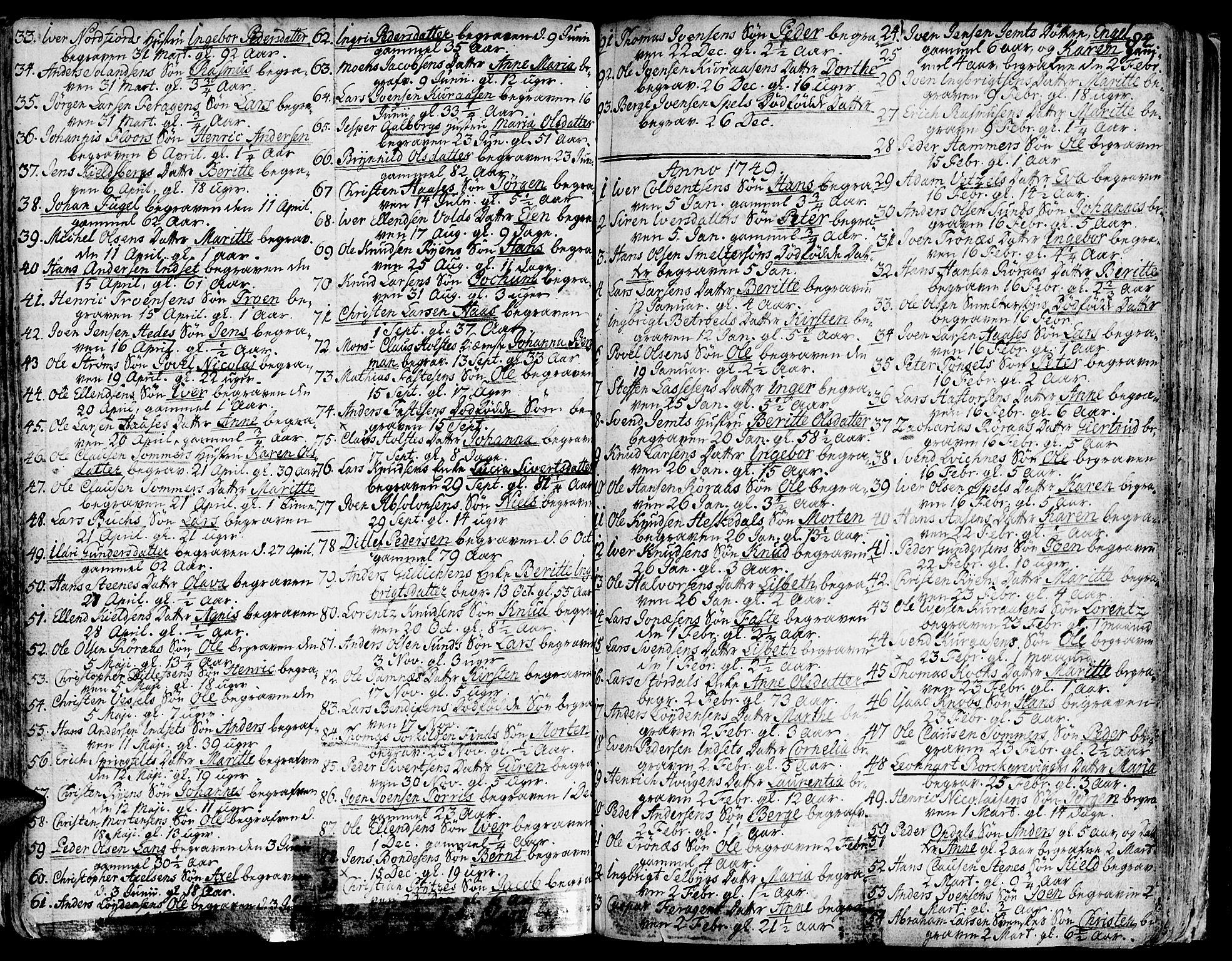 SAT, Ministerialprotokoller, klokkerbøker og fødselsregistre - Sør-Trøndelag, 681/L0925: Ministerialbok nr. 681A03, 1727-1766, s. 84