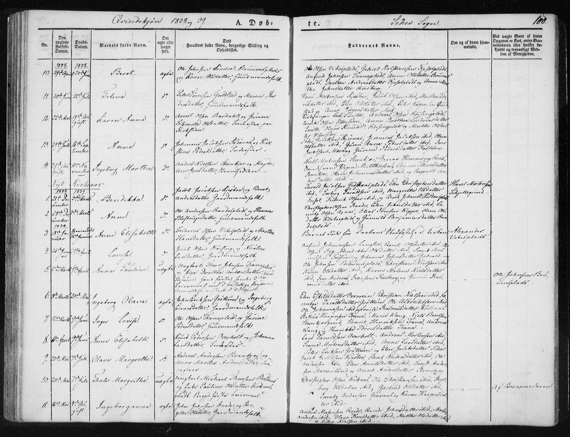 SAT, Ministerialprotokoller, klokkerbøker og fødselsregistre - Nord-Trøndelag, 735/L0339: Ministerialbok nr. 735A06 /2, 1836-1848, s. 100