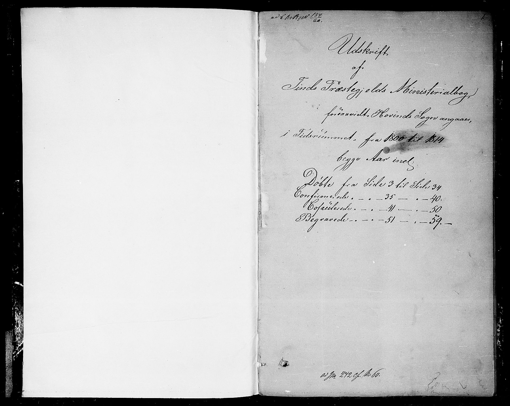 SAKO, Gransherad kirkebøker, F/Fb/L0001: Ministerialbok nr. II 1, 1800-1814, s. 0-1
