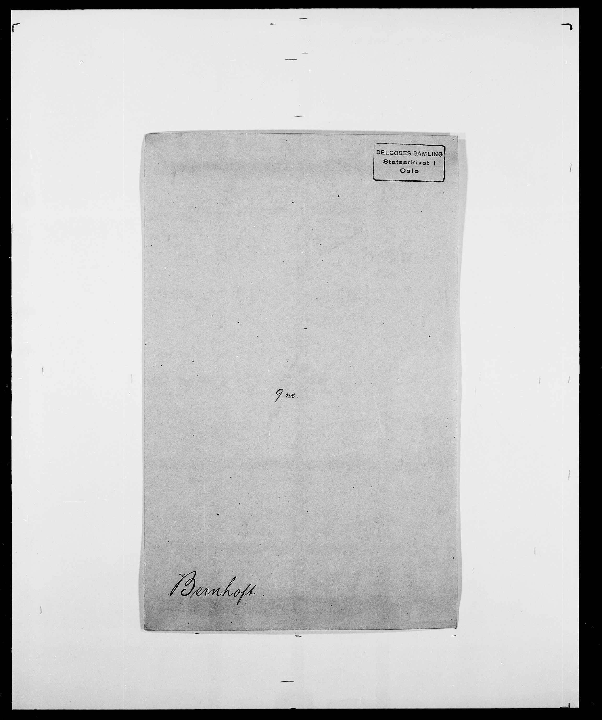 SAO, Delgobe, Charles Antoine - samling, D/Da/L0004: Bergendahl - Blære, s. 88