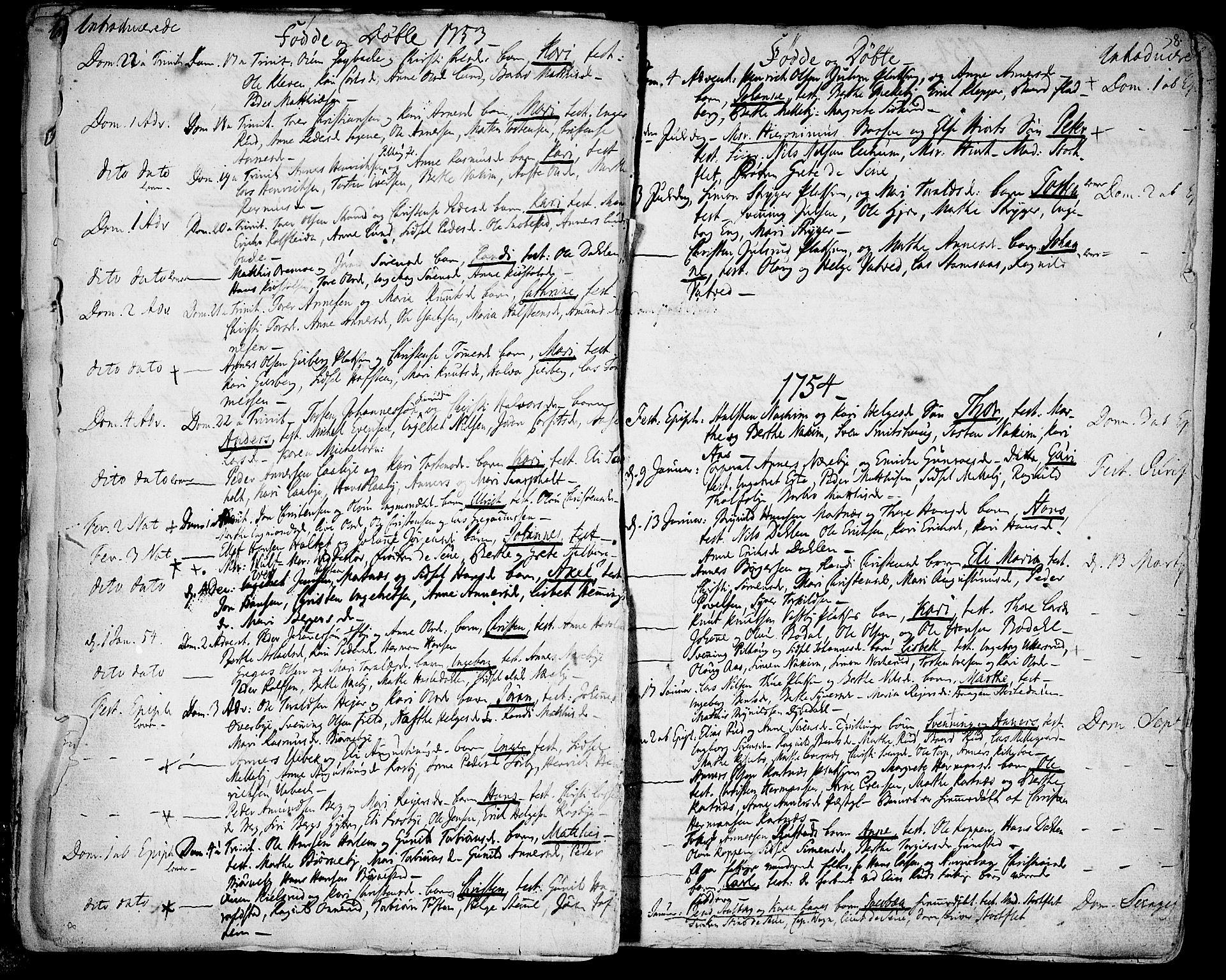 SAO, Rakkestad prestekontor Kirkebøker, F/Fa/L0003: Ministerialbok nr. I 3, 1752-1777, s. 8