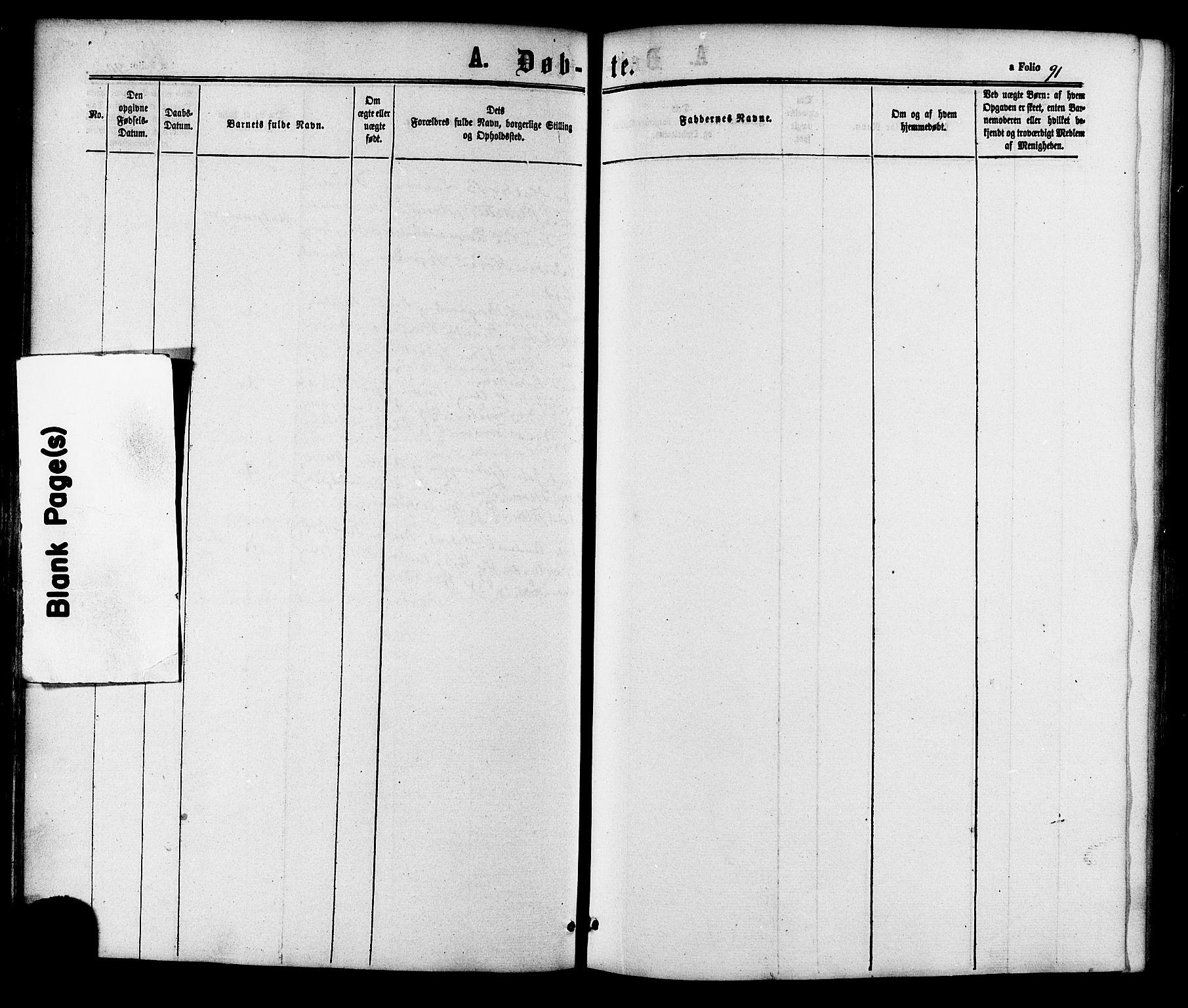 SAT, Ministerialprotokoller, klokkerbøker og fødselsregistre - Sør-Trøndelag, 618/L0443: Ministerialbok nr. 618A06 /2, 1863-1879, s. 91