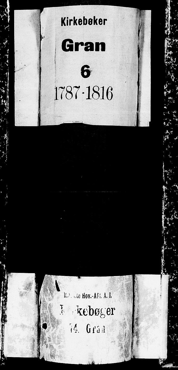 SAH, Gran prestekontor, Ministerialbok nr. 6, 1787-1824