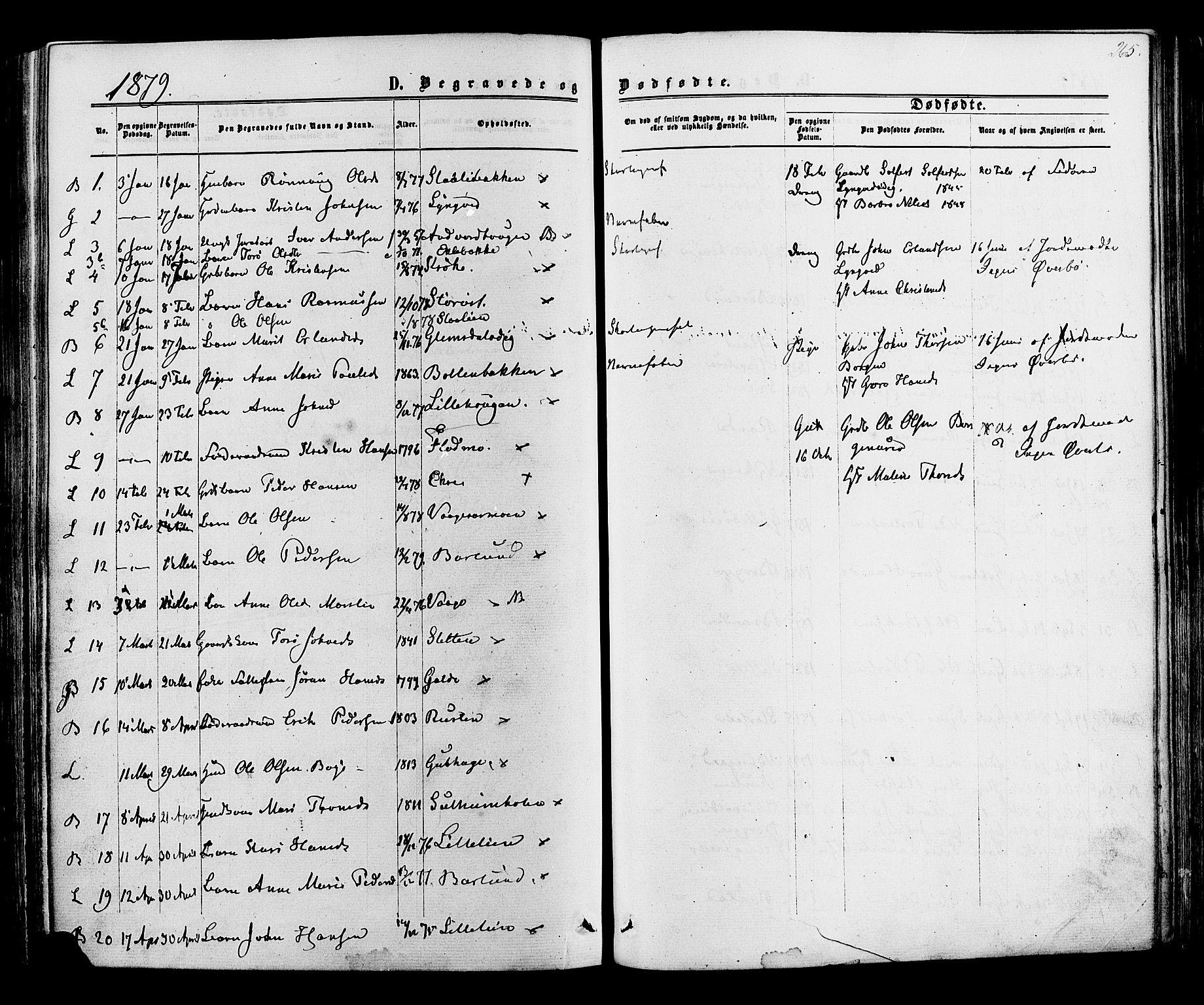 SAH, Lom prestekontor, K/L0007: Ministerialbok nr. 7, 1863-1884, s. 265