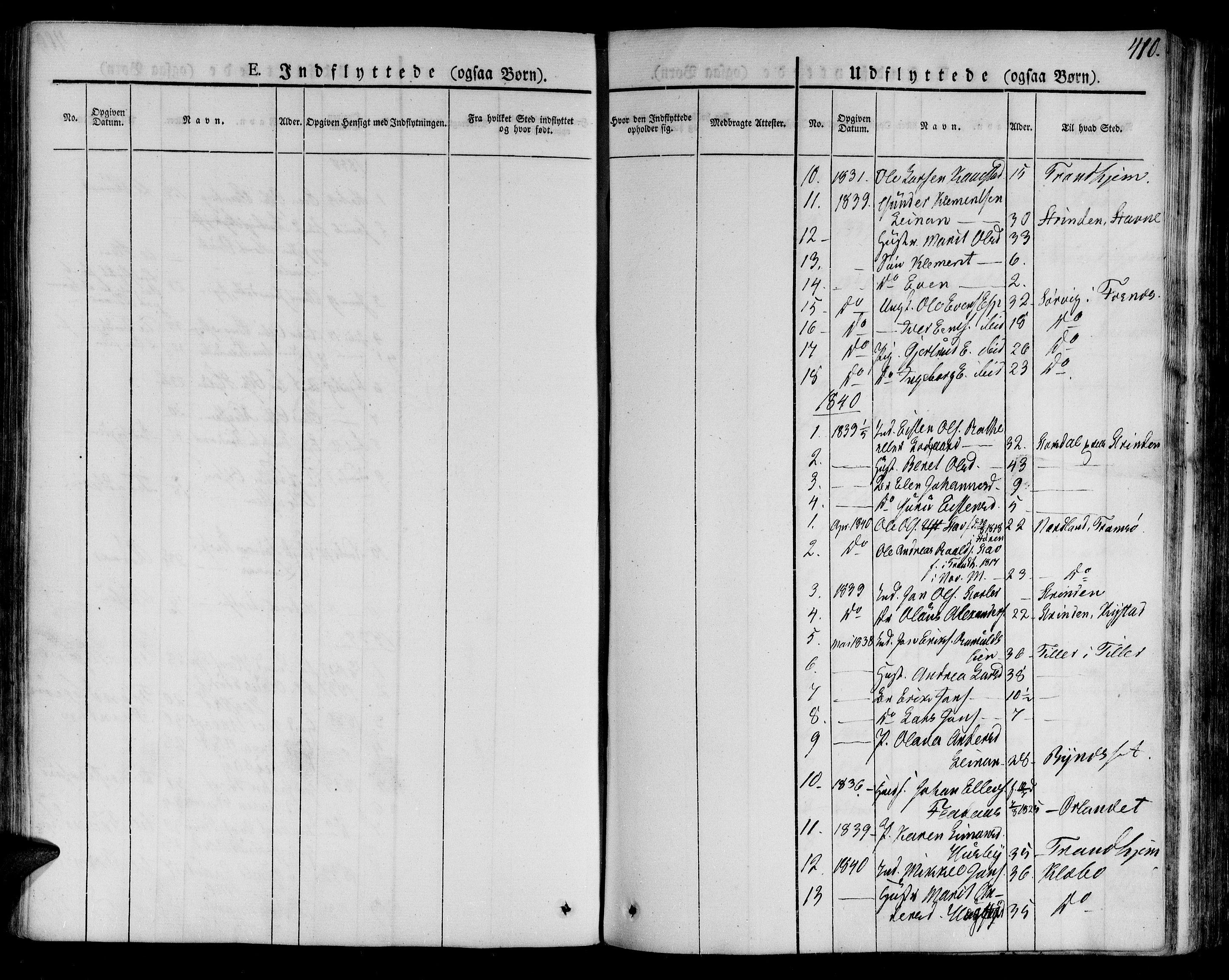 SAT, Ministerialprotokoller, klokkerbøker og fødselsregistre - Sør-Trøndelag, 691/L1071: Ministerialbok nr. 691A05 /2, 1826-1841, s. 410