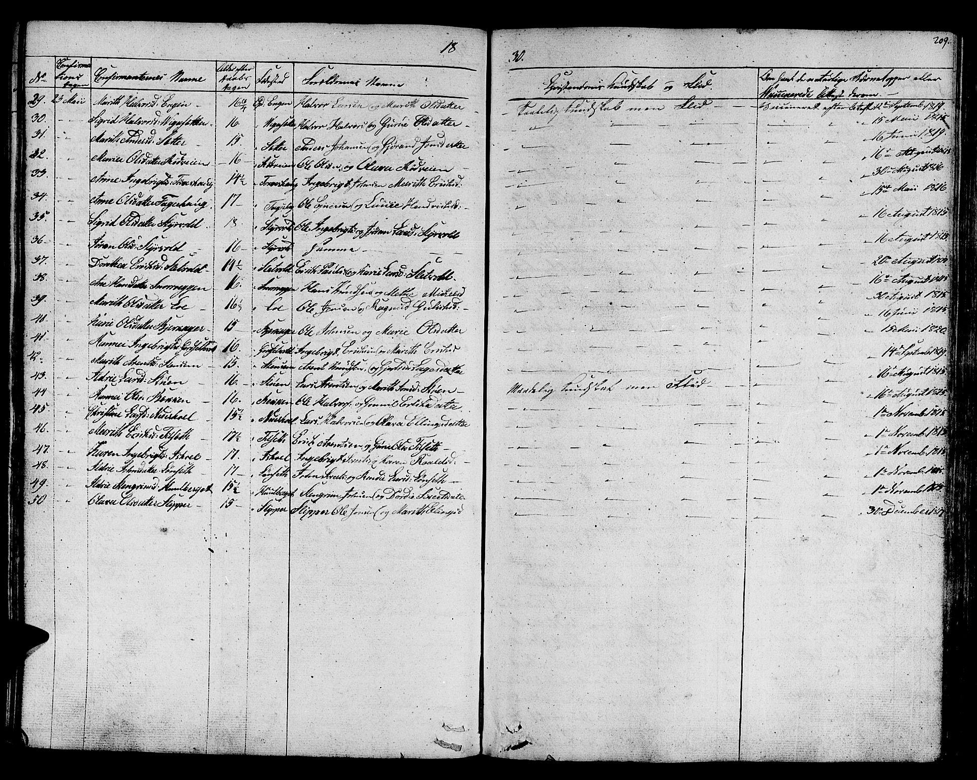 SAT, Ministerialprotokoller, klokkerbøker og fødselsregistre - Sør-Trøndelag, 678/L0897: Ministerialbok nr. 678A06-07, 1821-1847, s. 209
