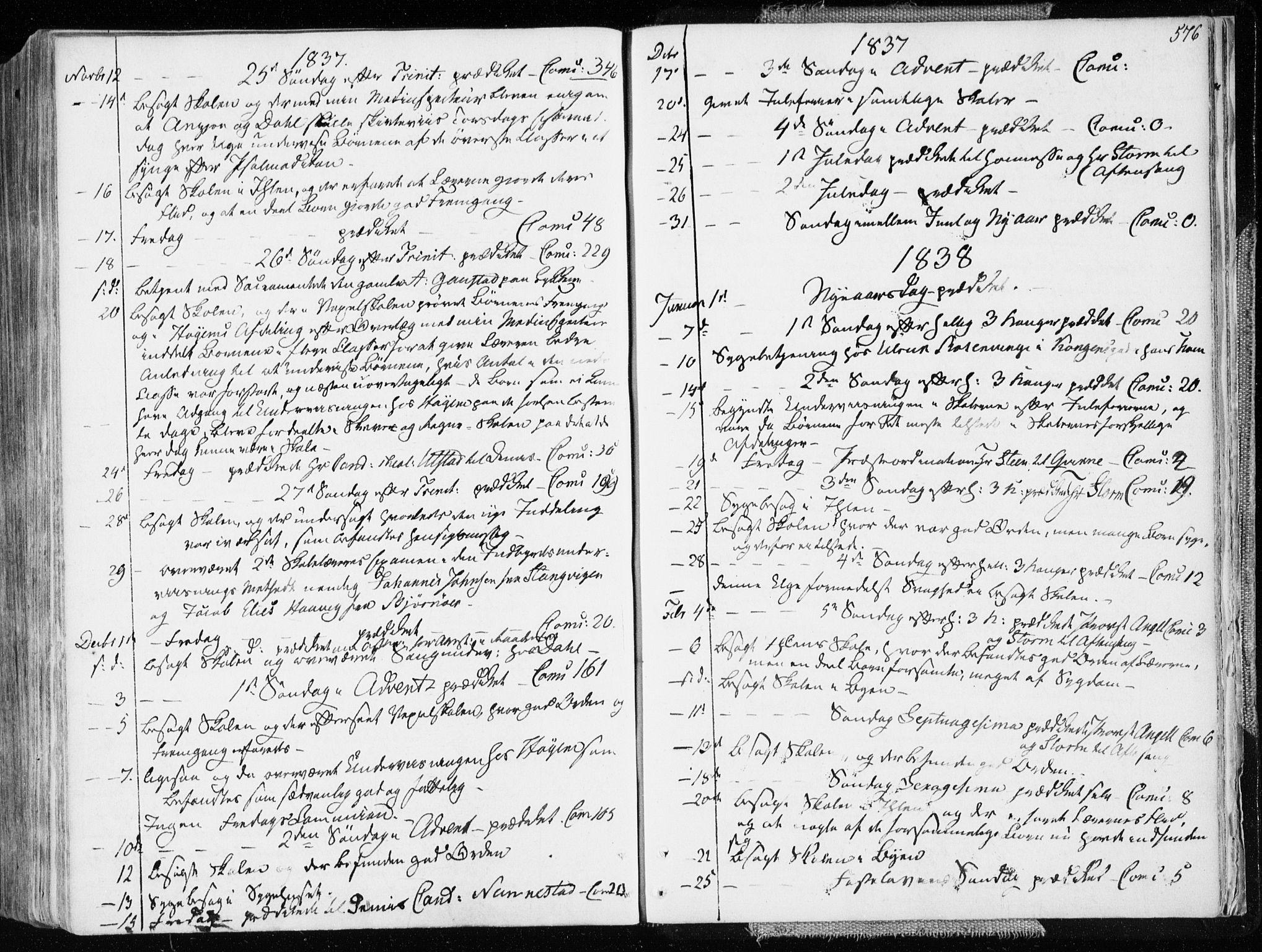 SAT, Ministerialprotokoller, klokkerbøker og fødselsregistre - Sør-Trøndelag, 601/L0047: Ministerialbok nr. 601A15, 1831-1839, s. 576