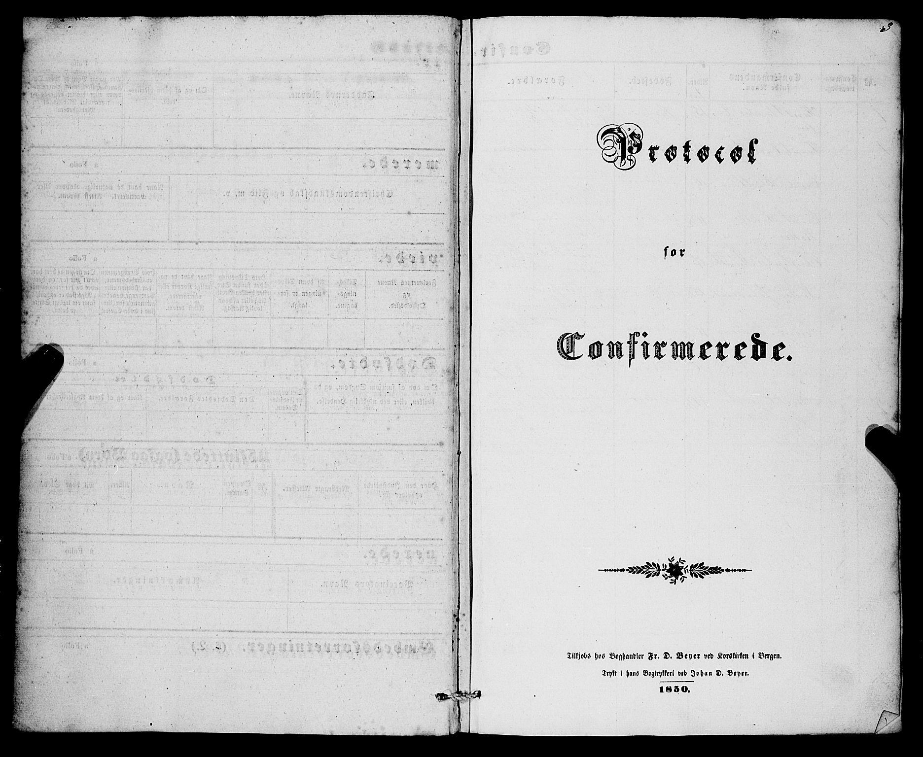 SAB, Nykirken Sokneprestembete, H/Haa: Ministerialbok nr. C 2, 1851-1863, s. 3