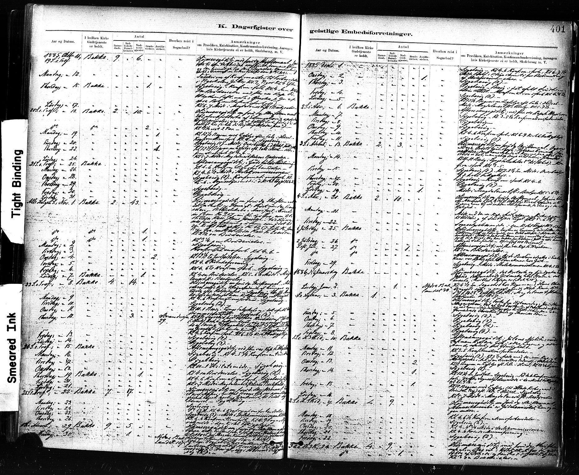 SAT, Ministerialprotokoller, klokkerbøker og fødselsregistre - Sør-Trøndelag, 604/L0189: Ministerialbok nr. 604A10, 1878-1892, s. 401