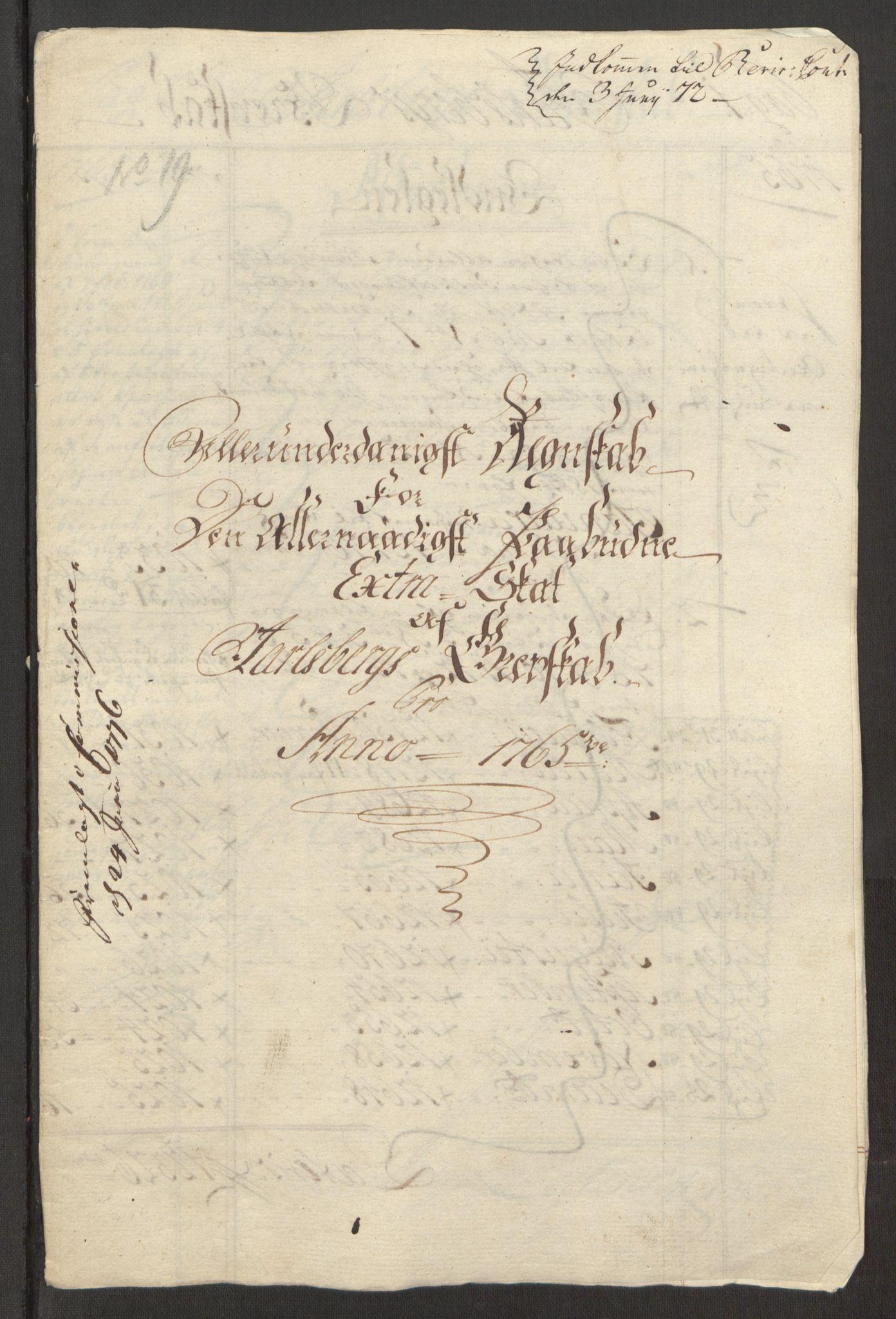 RA, Rentekammeret inntil 1814, Reviderte regnskaper, Fogderegnskap, R32/L1960: Ekstraskatten Jarlsberg grevskap, 1762-1772, s. 78