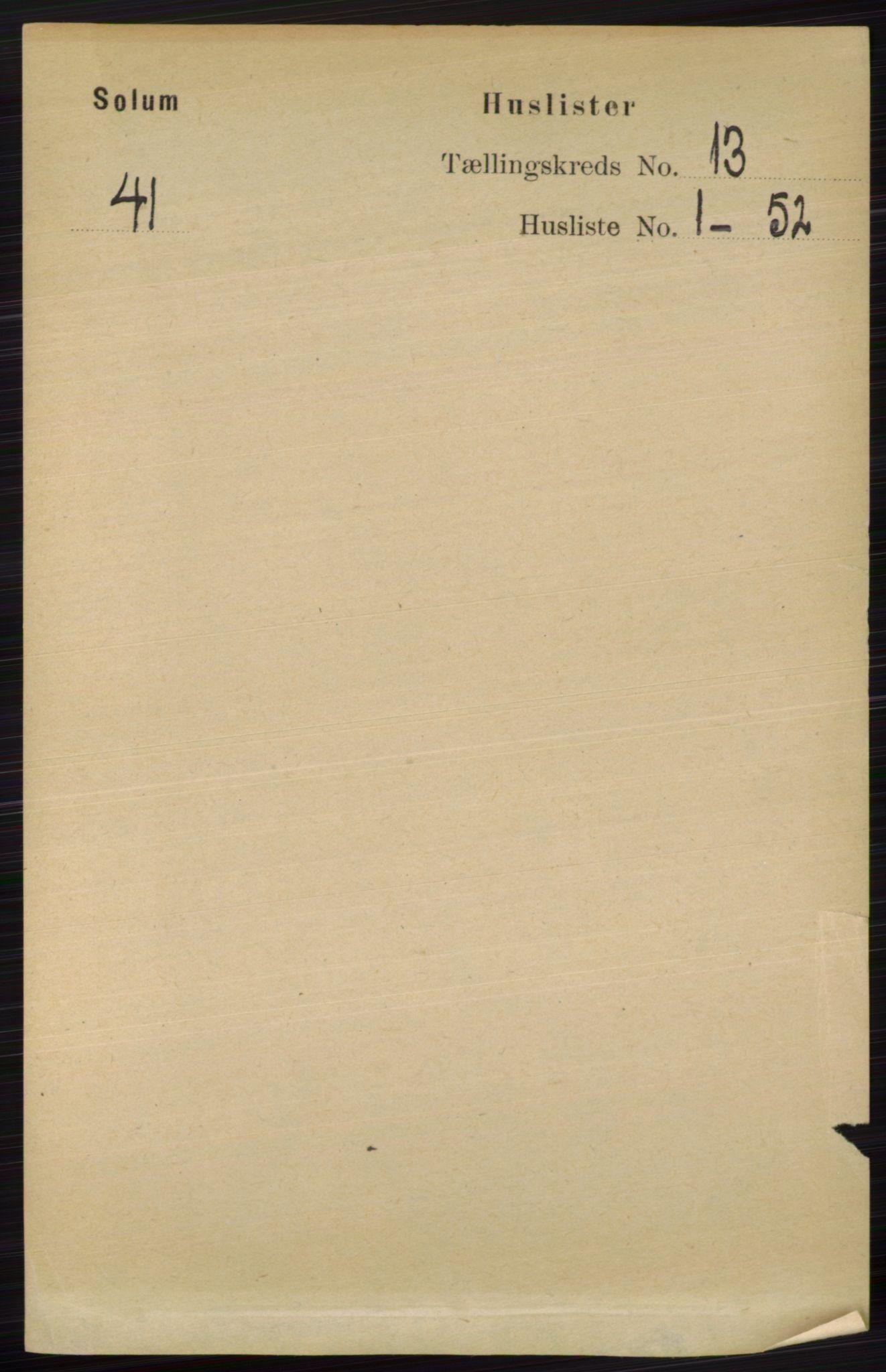 RA, Folketelling 1891 for 0818 Solum herred, 1891, s. 6002
