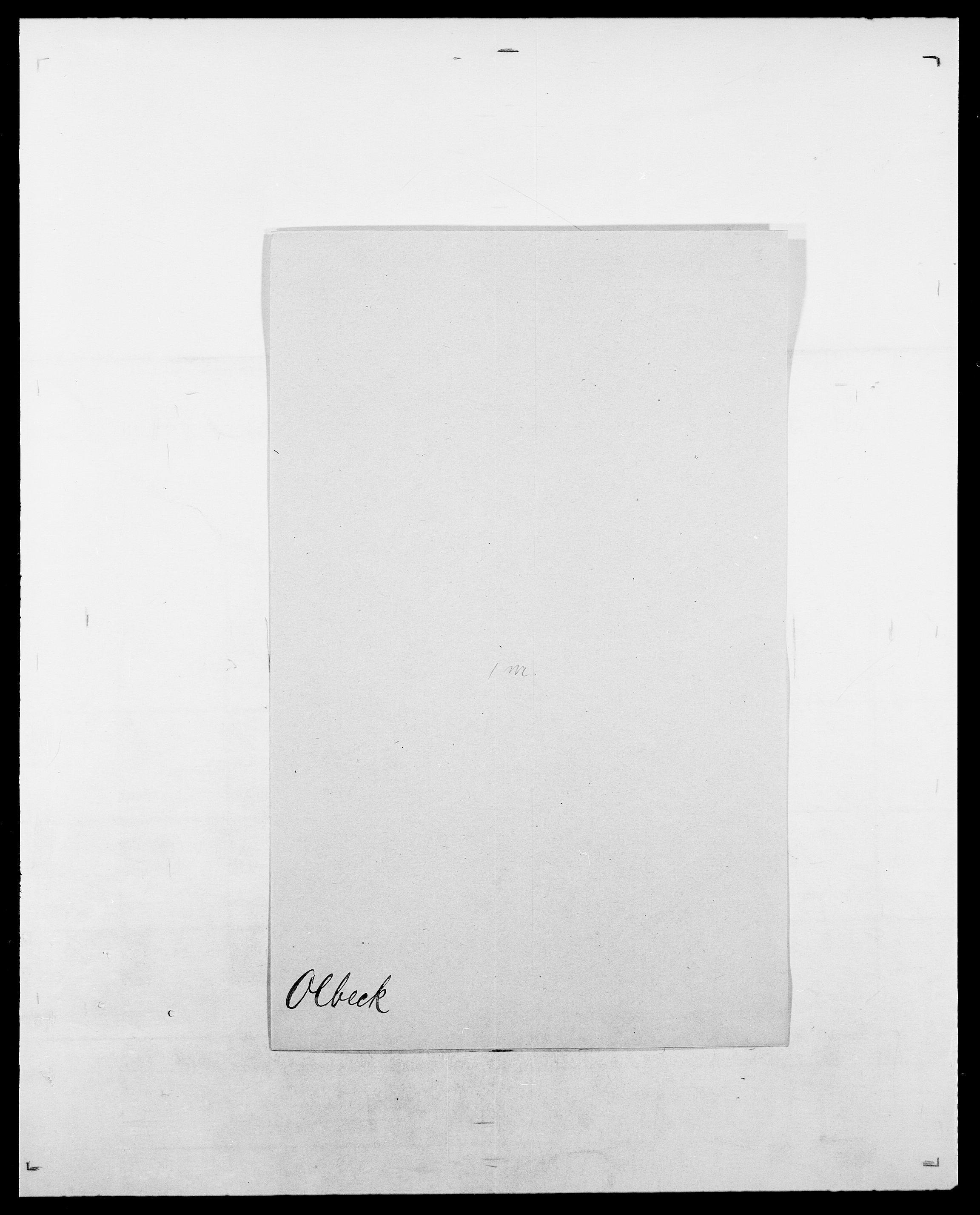 SAO, Delgobe, Charles Antoine - samling, D/Da/L0029: Obel - Oxholm, s. 89