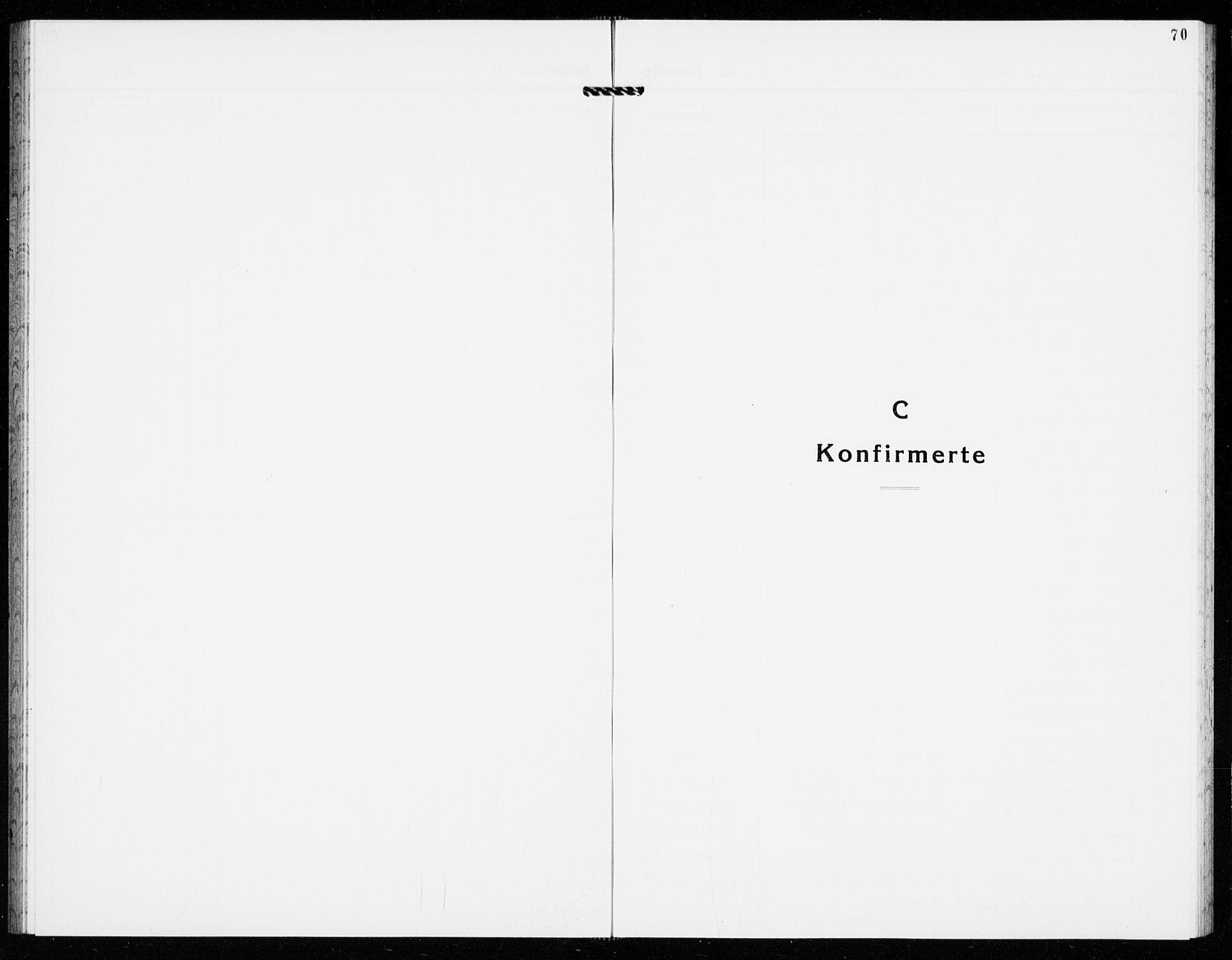 SAKO, Gjerpen kirkebøker, G/Ga/L0005: Klokkerbok nr. I 5, 1932-1940, s. 70
