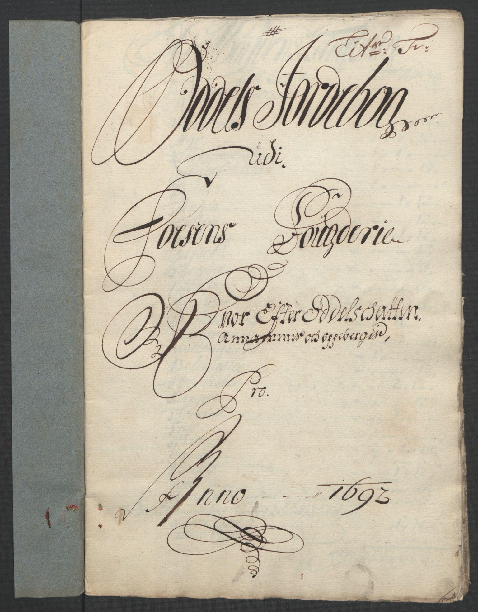 RA, Rentekammeret inntil 1814, Reviderte regnskaper, Fogderegnskap, R57/L3849: Fogderegnskap Fosen, 1692-1693, s. 89