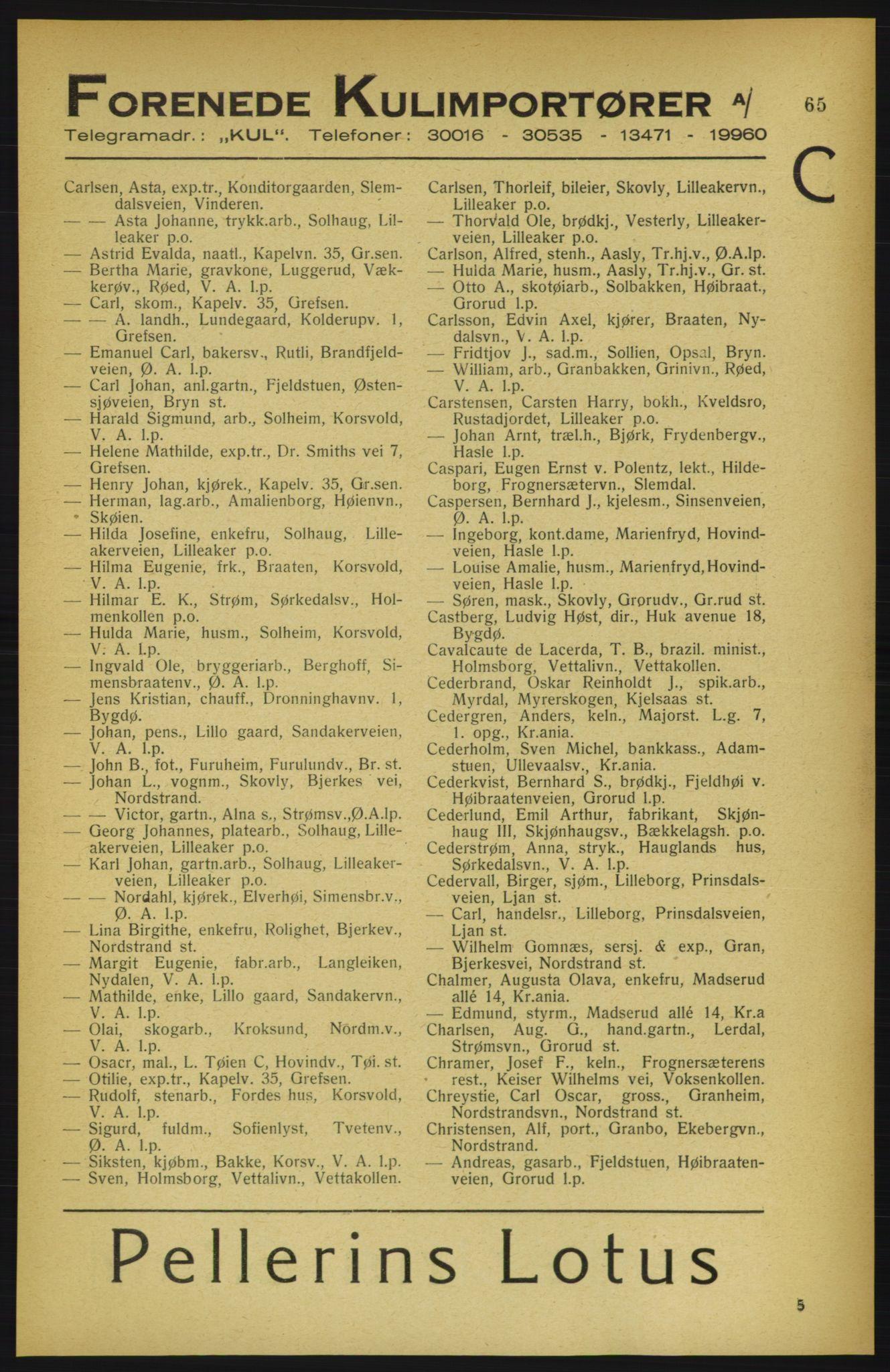 PUBL, Aker adressebok/adressekalender, 1922, s. 65