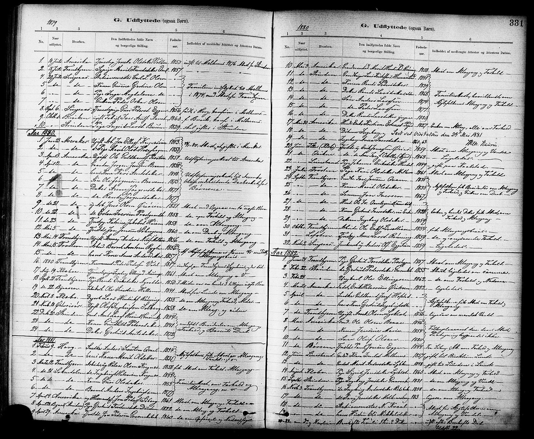 SAT, Ministerialprotokoller, klokkerbøker og fødselsregistre - Sør-Trøndelag, 691/L1094: Klokkerbok nr. 691C05, 1879-1911, s. 331