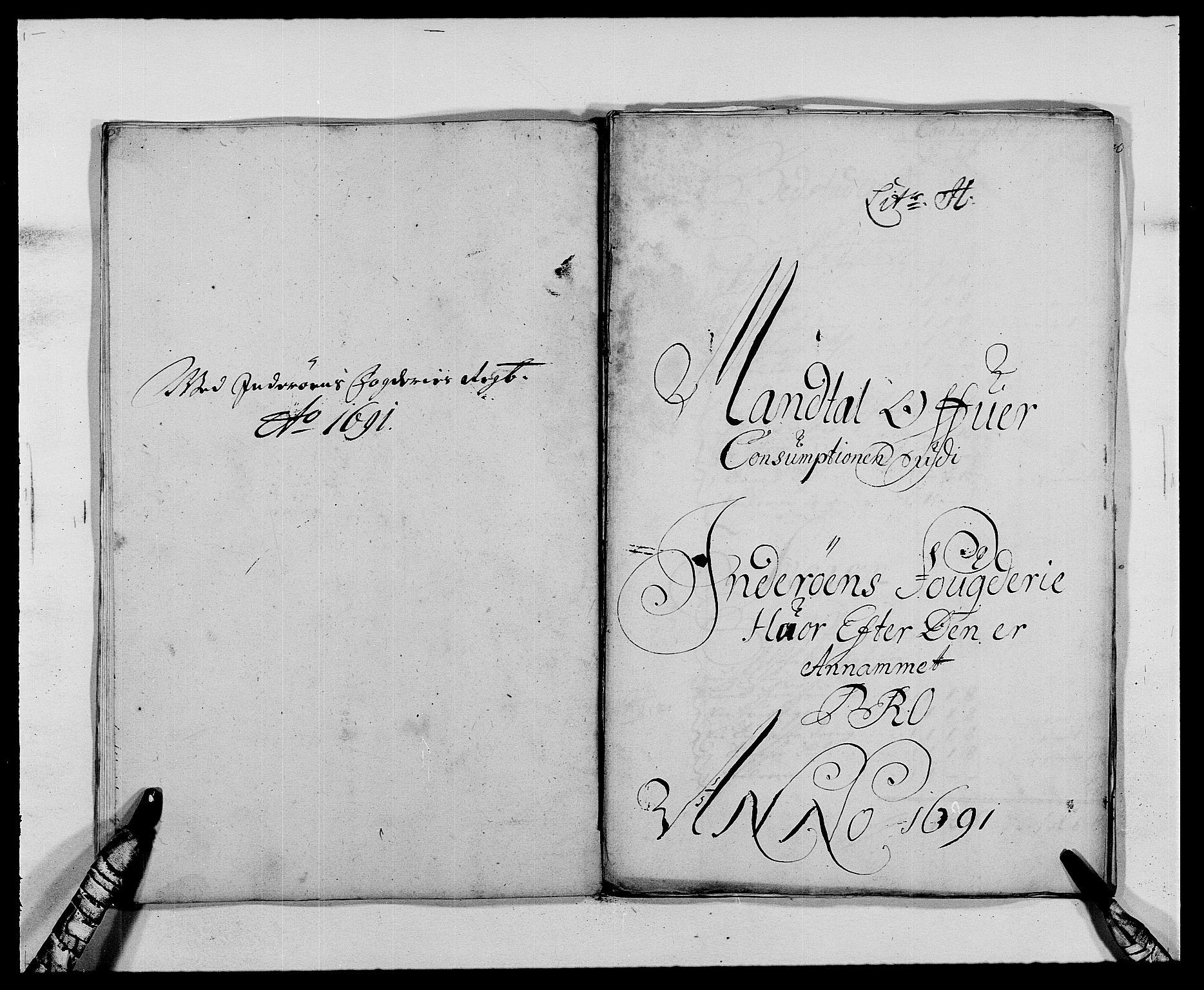 RA, Rentekammeret inntil 1814, Reviderte regnskaper, Fogderegnskap, R63/L4307: Fogderegnskap Inderøy, 1690-1691, s. 334
