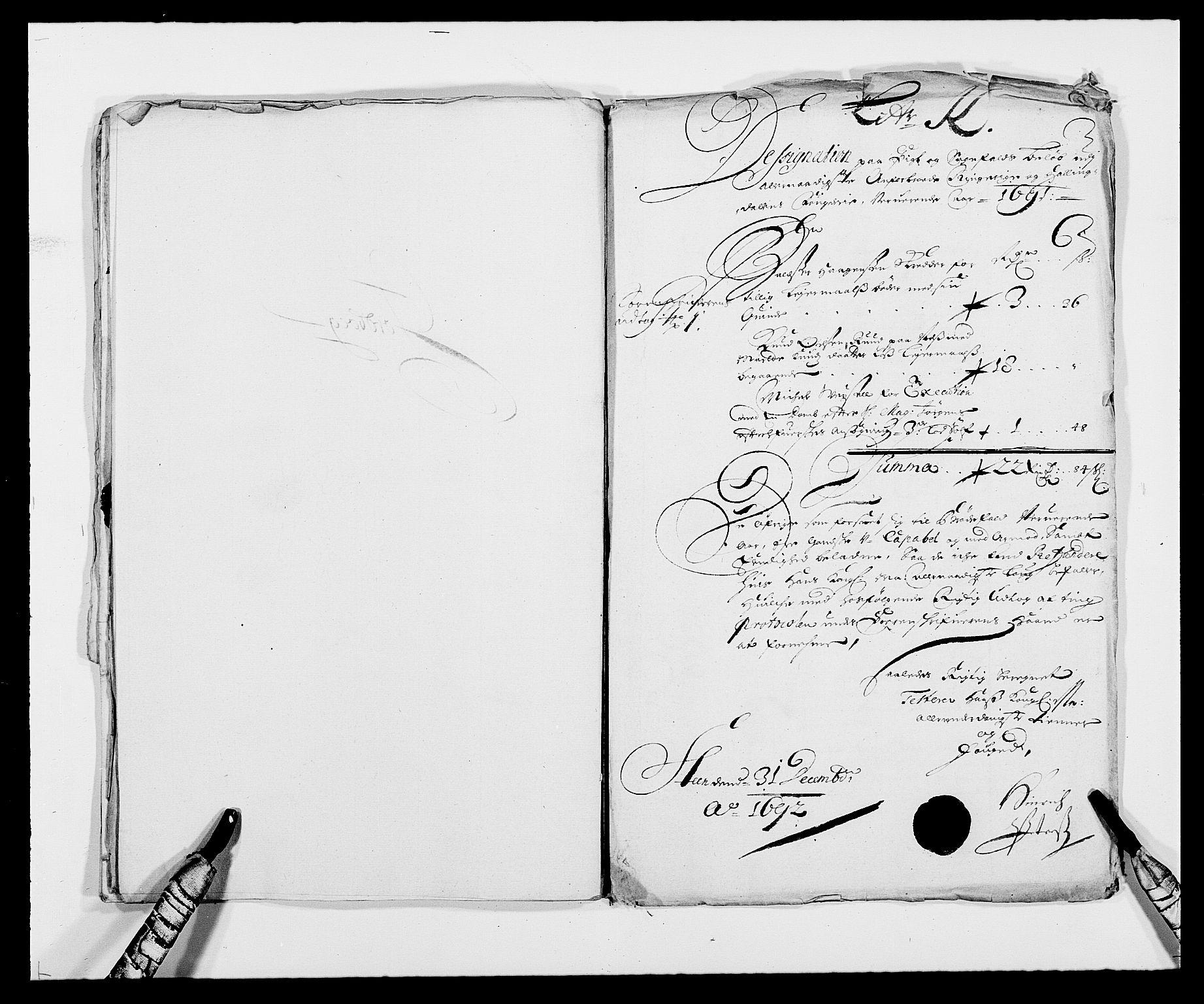 RA, Rentekammeret inntil 1814, Reviderte regnskaper, Fogderegnskap, R21/L1448: Fogderegnskap Ringerike og Hallingdal, 1690-1692, s. 170
