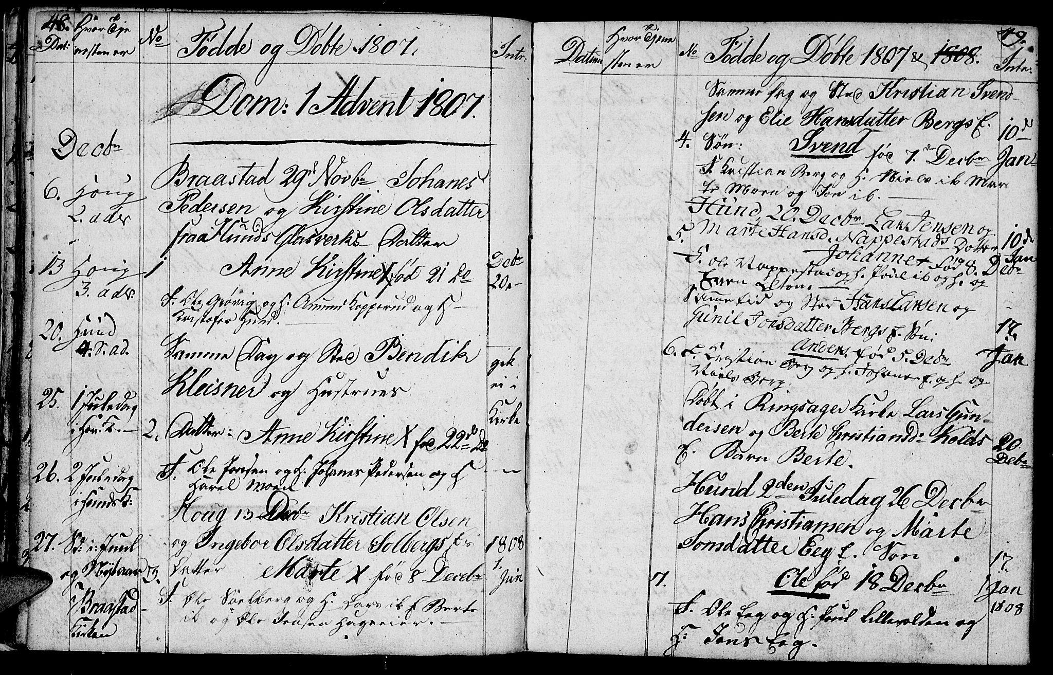 SAH, Vardal prestekontor, H/Ha/Hab/L0003: Klokkerbok nr. 3, 1803-1808, s. 48-49