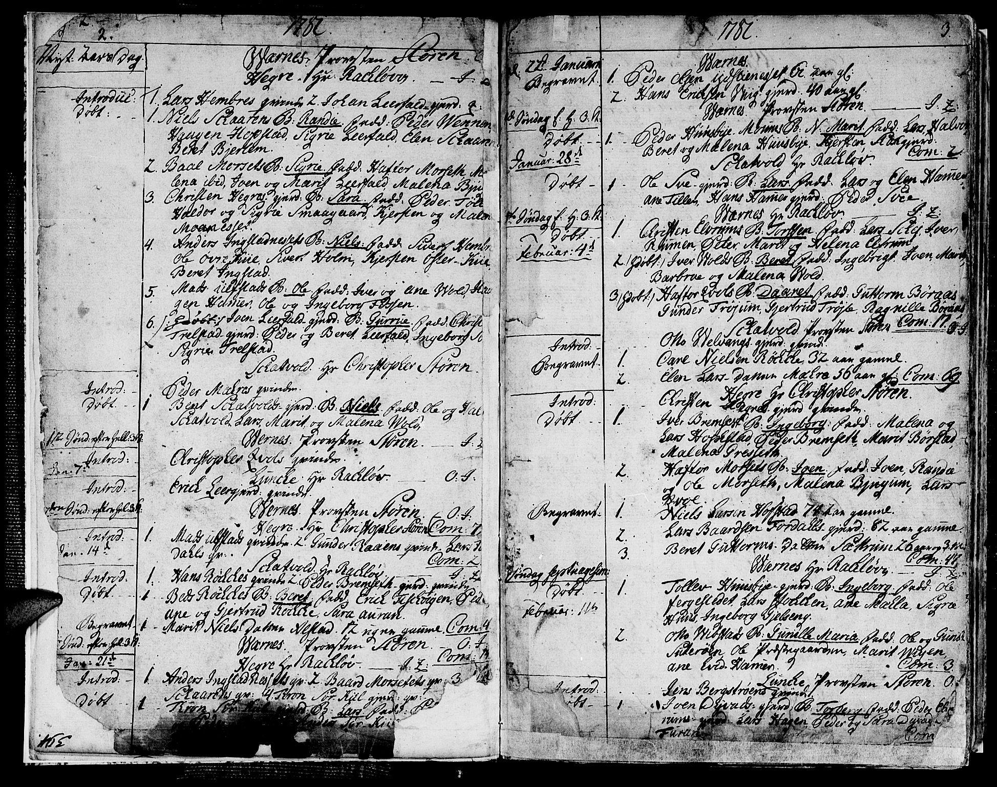 SAT, Ministerialprotokoller, klokkerbøker og fødselsregistre - Nord-Trøndelag, 709/L0059: Ministerialbok nr. 709A06, 1781-1797, s. 2-3