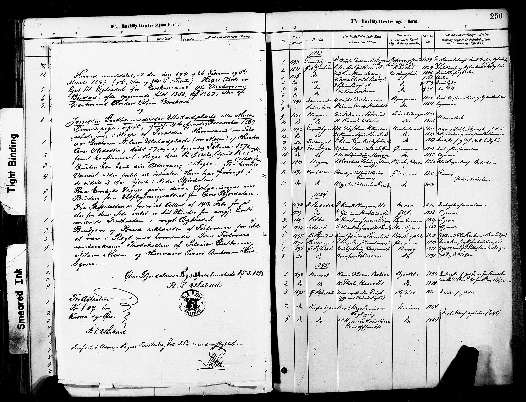 SAT, Ministerialprotokoller, klokkerbøker og fødselsregistre - Nord-Trøndelag, 709/L0077: Ministerialbok nr. 709A17, 1880-1895, s. 256