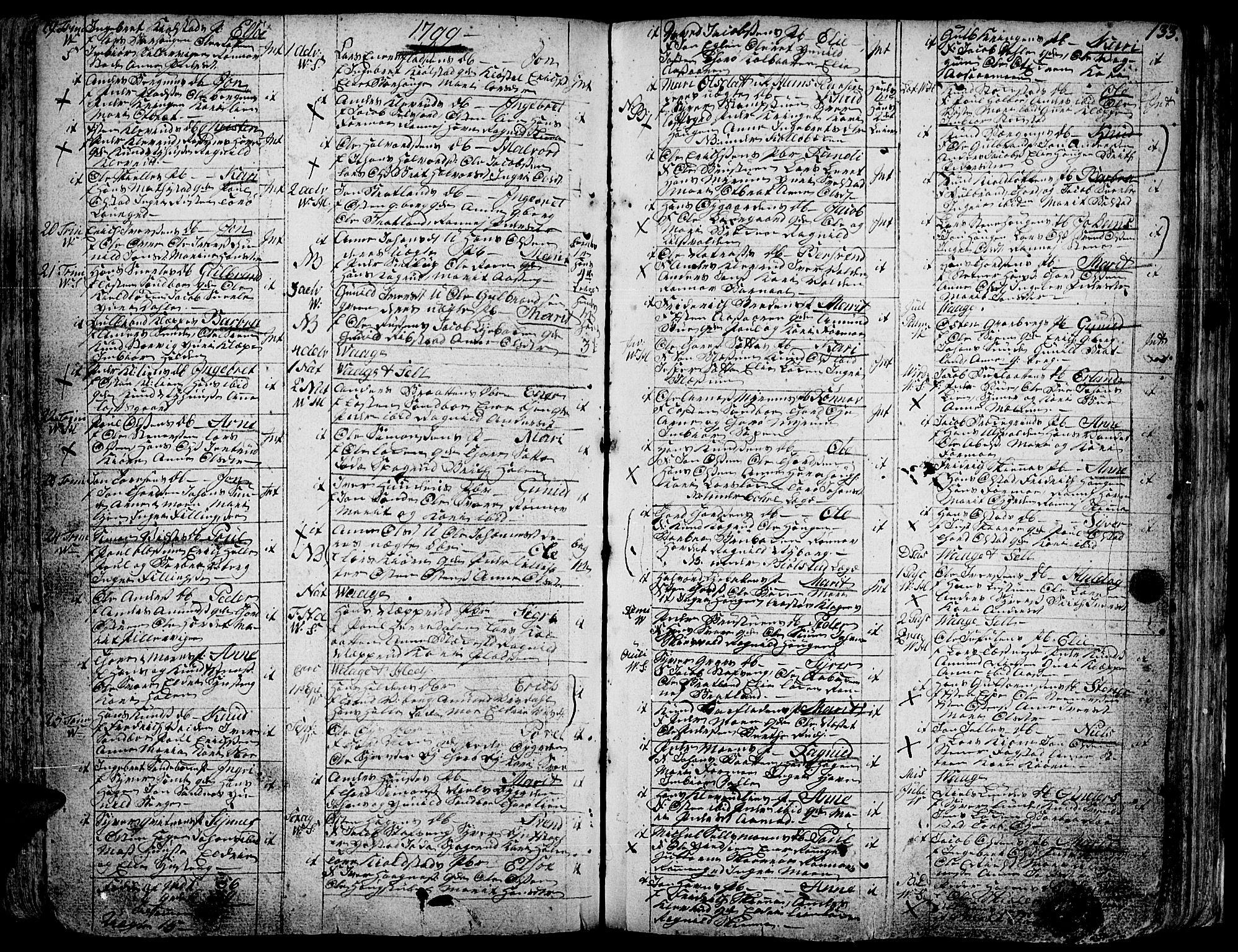 SAH, Vågå prestekontor, Ministerialbok nr. 1, 1739-1810, s. 133