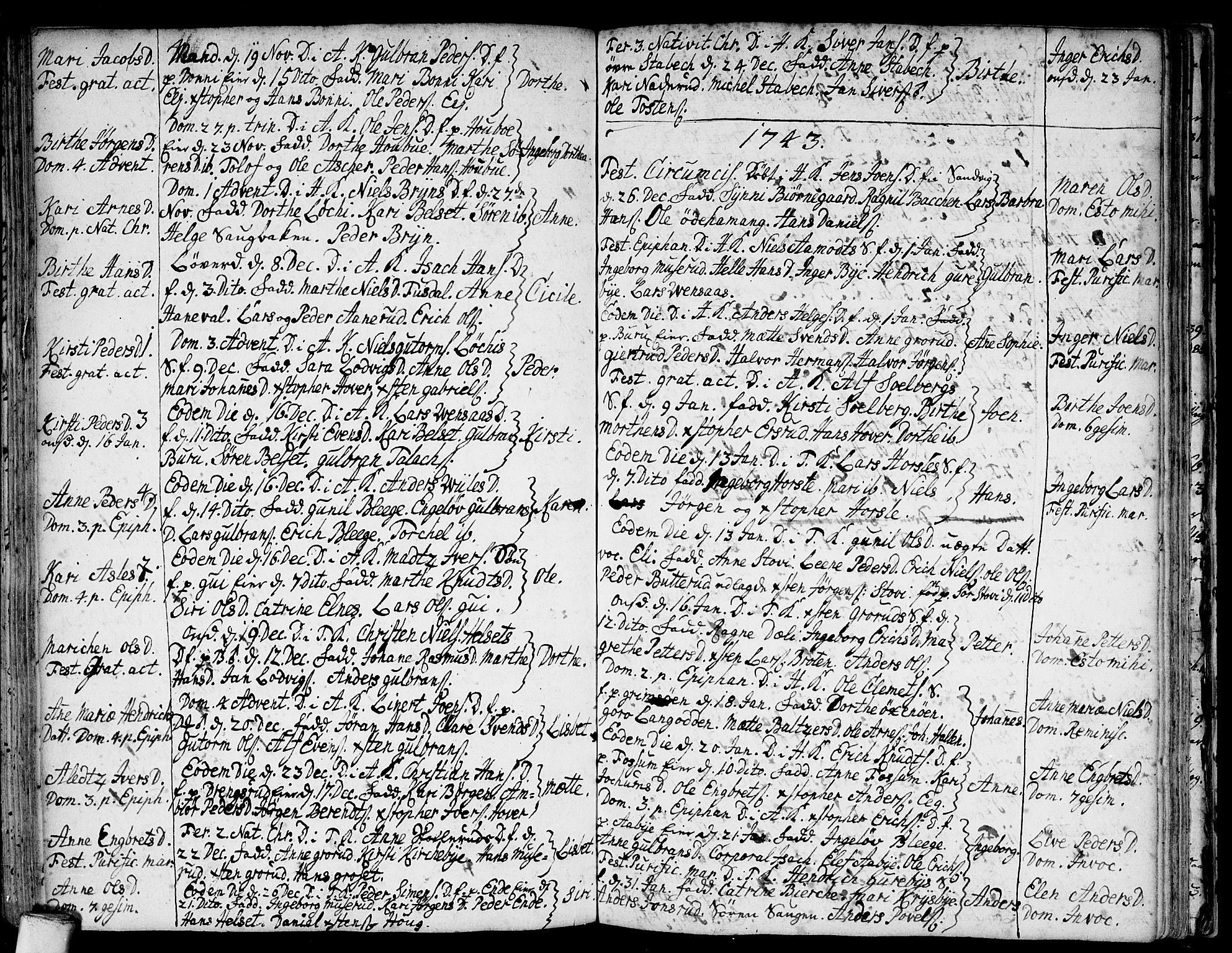 SAO, Asker prestekontor Kirkebøker, F/Fa/L0001: Ministerialbok nr. I 1, 1726-1744, s. 78