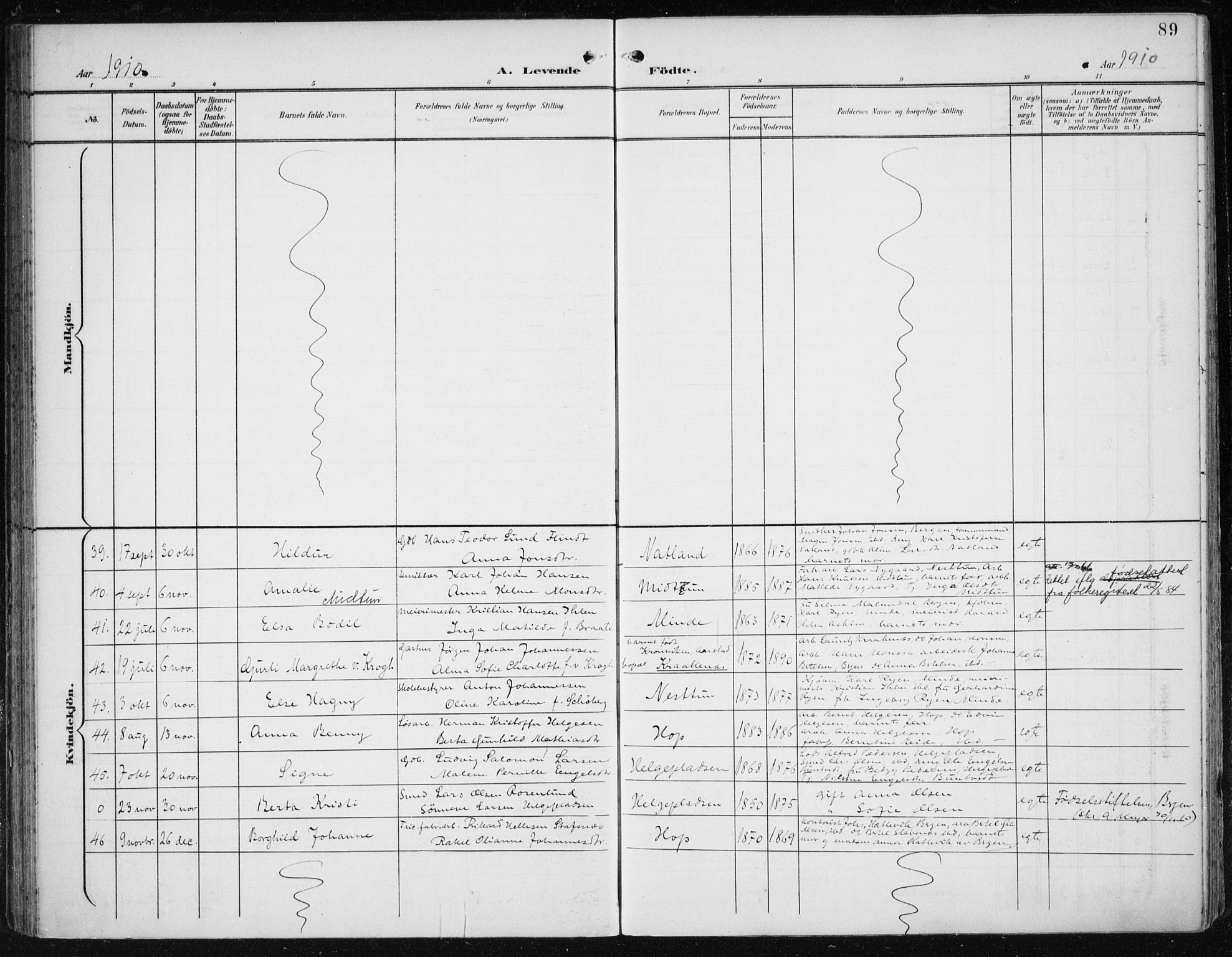 SAB, Fana Sokneprestembete, H/Haa/Haai/L0003: Ministerialbok nr. I 3, 1900-1912, s. 89