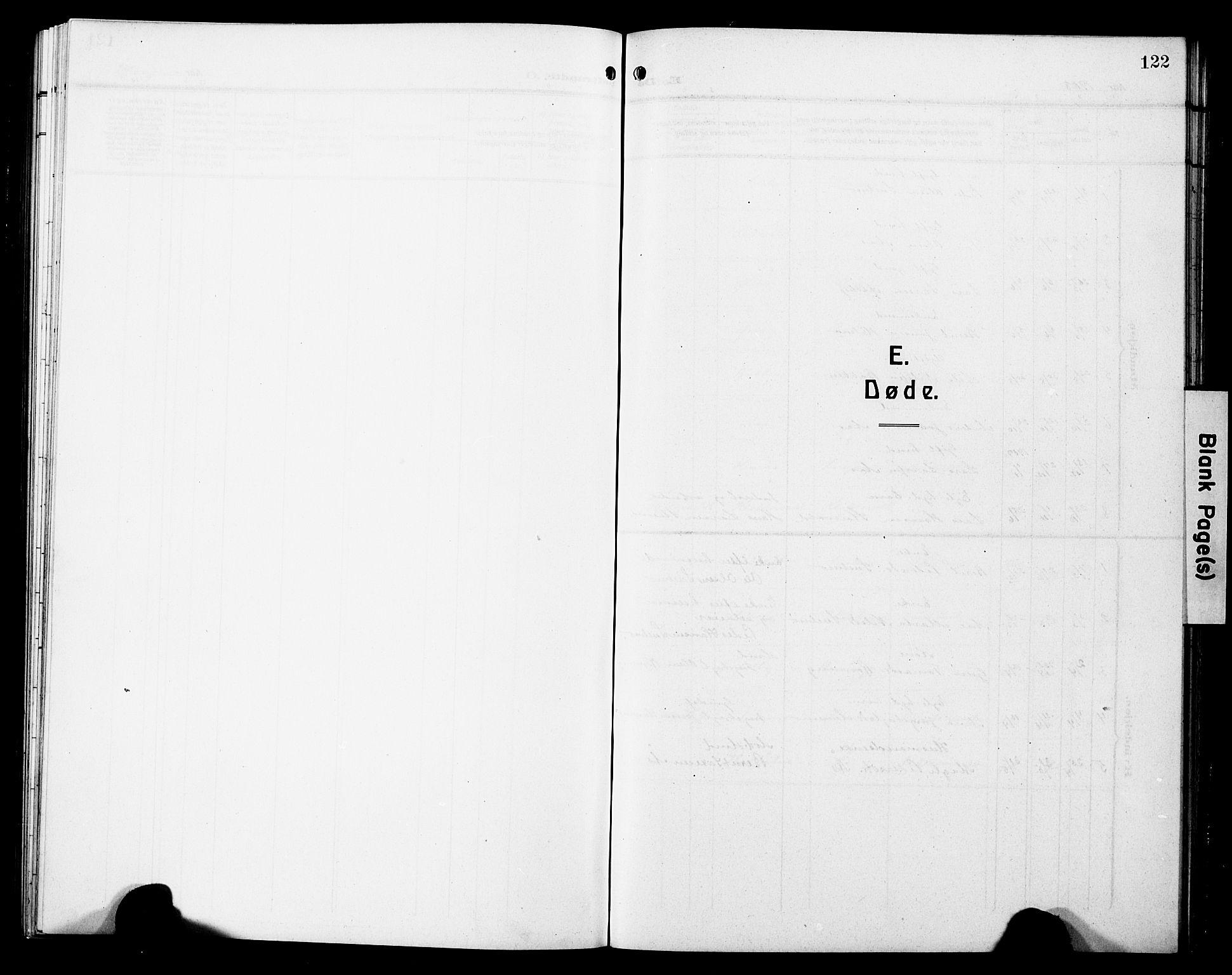 SAT, Ministerialprotokoller, klokkerbøker og fødselsregistre - Sør-Trøndelag, 698/L1168: Klokkerbok nr. 698C05, 1908-1930, s. 122
