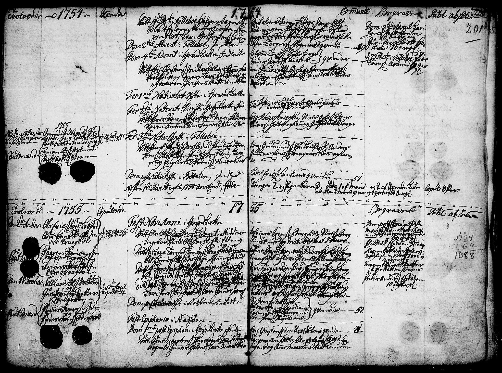 SAH, Gausdal prestekontor, Ministerialbok nr. 2, 1729-1757, s. 201