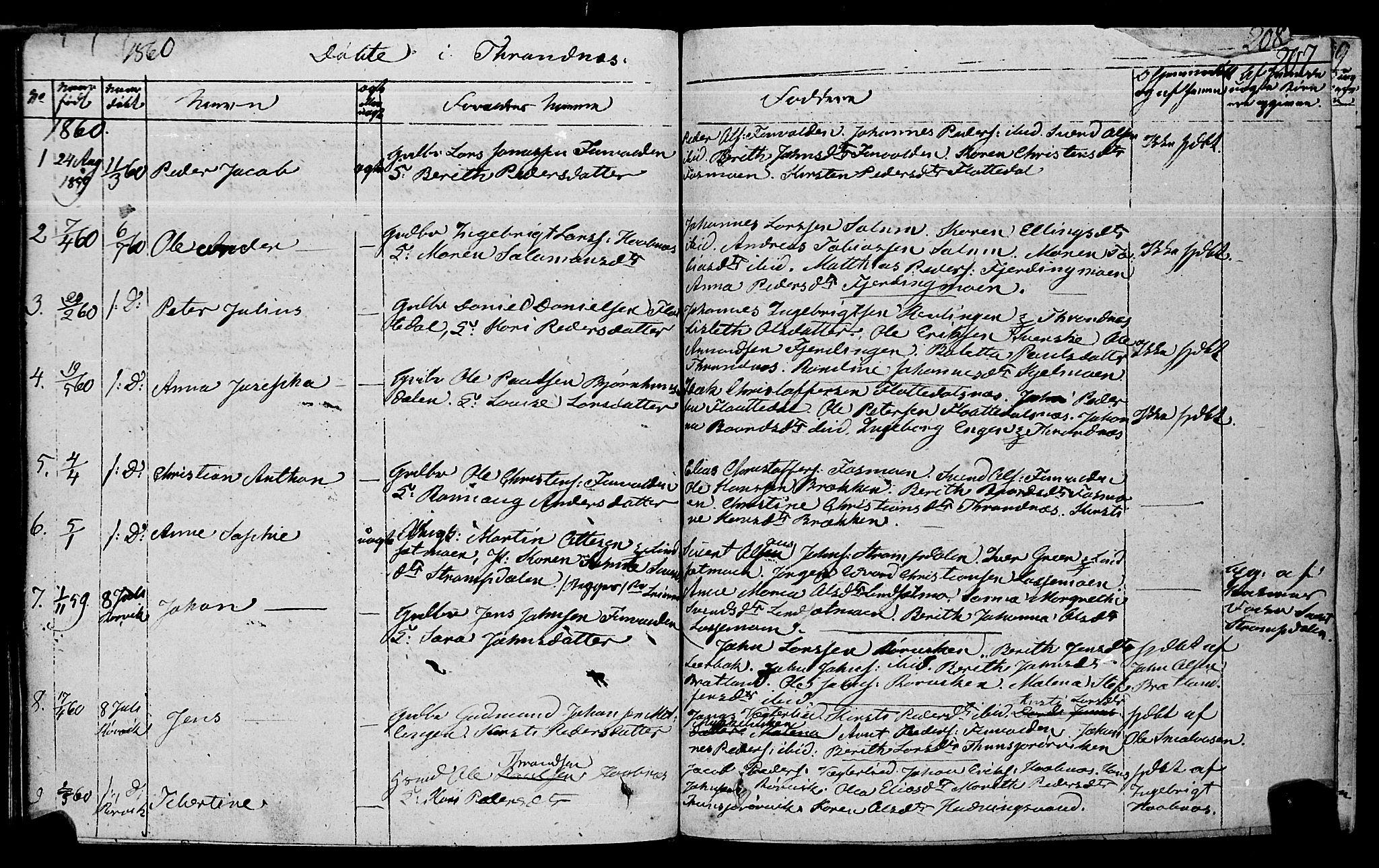 SAT, Ministerialprotokoller, klokkerbøker og fødselsregistre - Nord-Trøndelag, 762/L0538: Ministerialbok nr. 762A02 /2, 1833-1879, s. 207