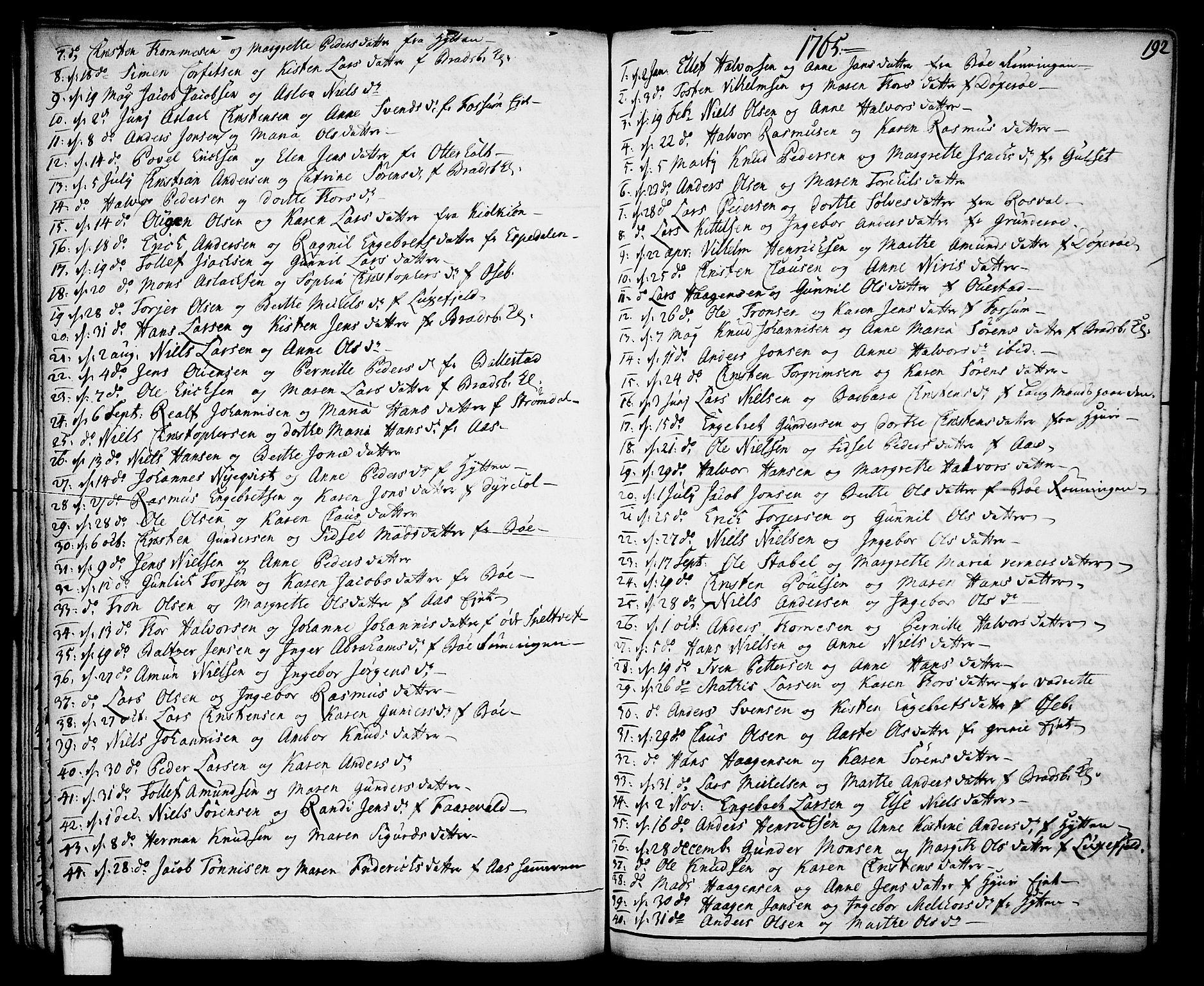 SAKO, Gjerpen kirkebøker, F/Fa/L0002: Ministerialbok nr. 2, 1747-1795, s. 192