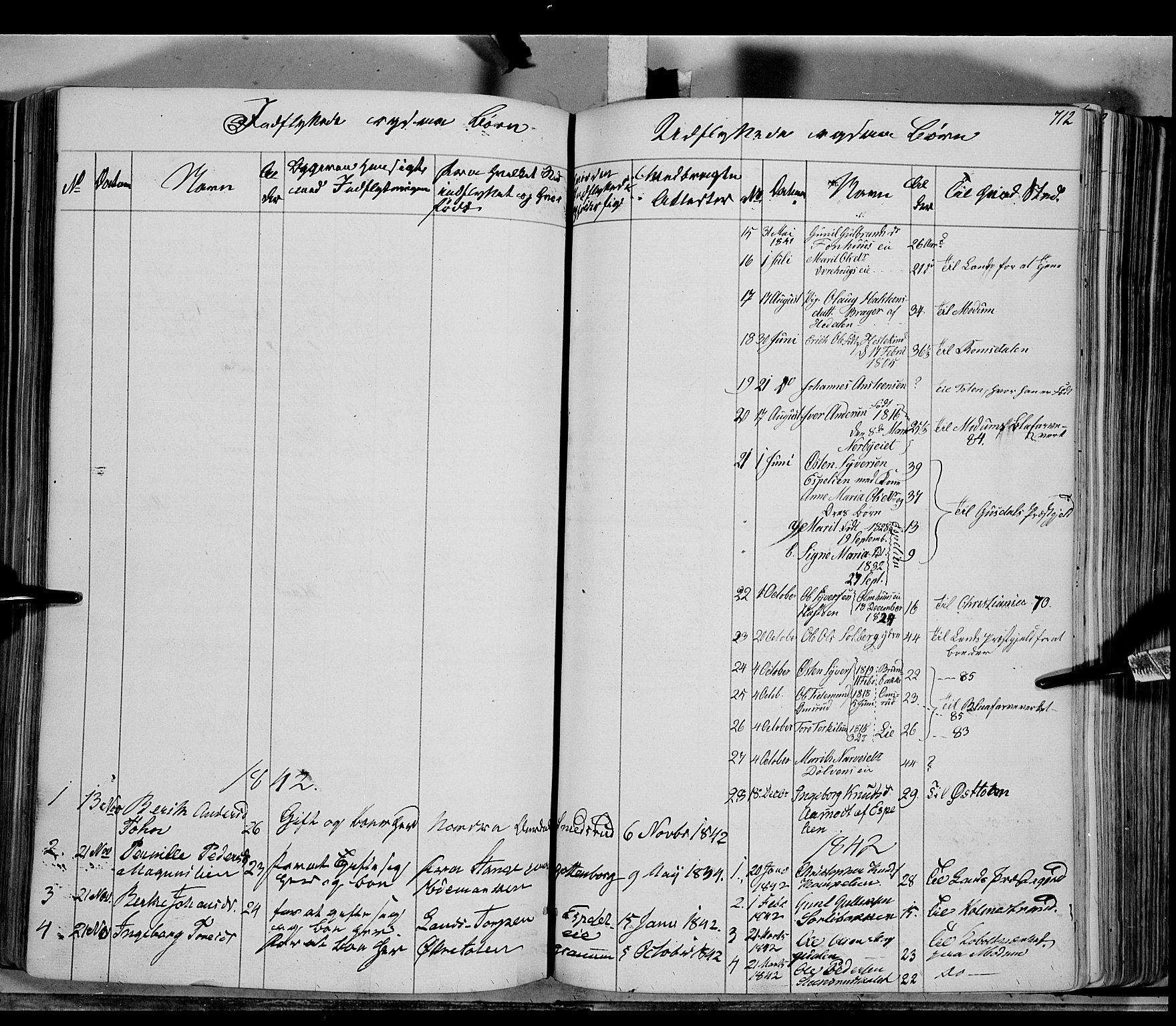 SAH, Sør-Aurdal prestekontor, Ministerialbok nr. 4, 1841-1849, s. 711-712