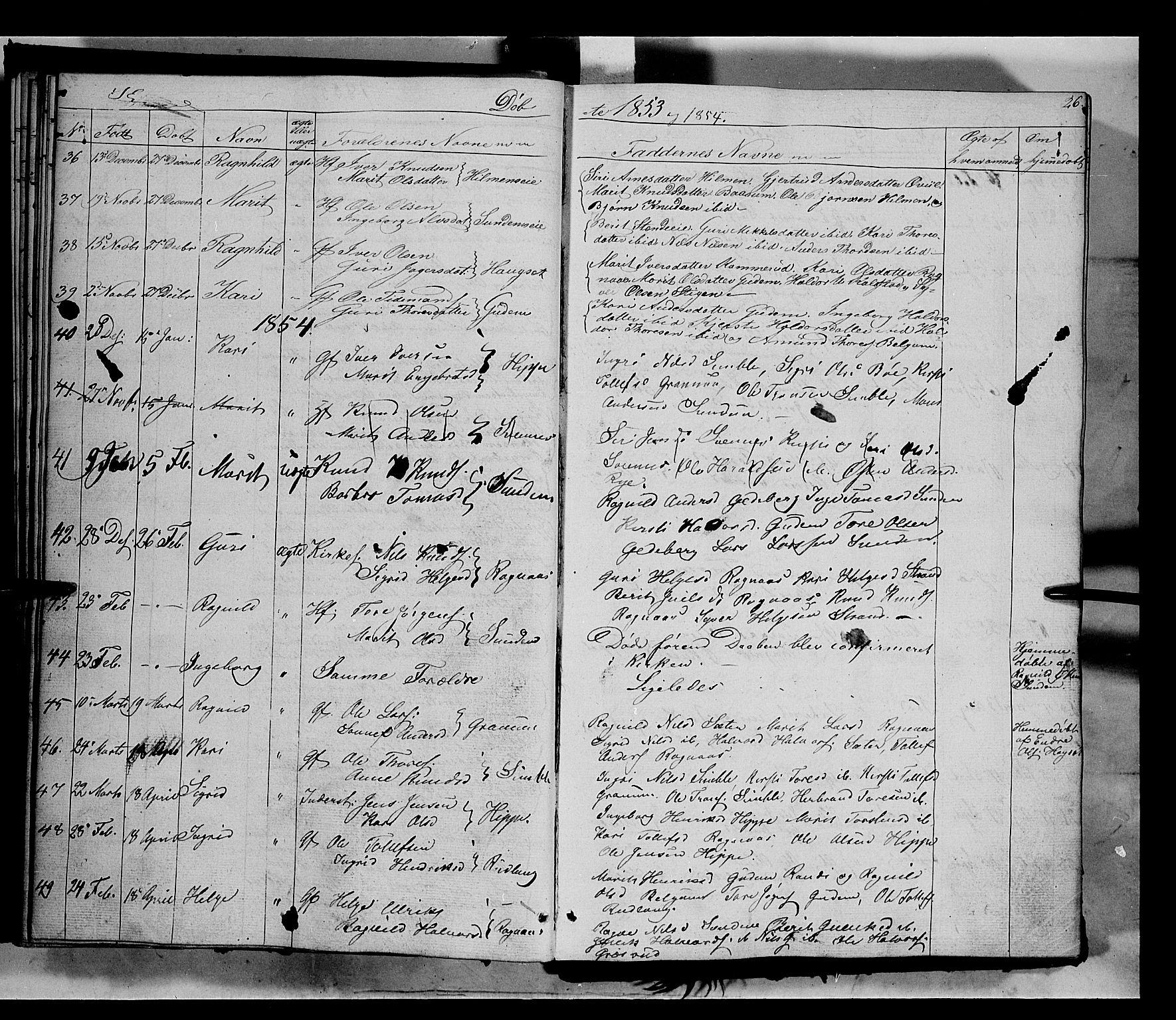 SAH, Nord-Aurdal prestekontor, Ministerialbok nr. 6, 1842-1863, s. 26