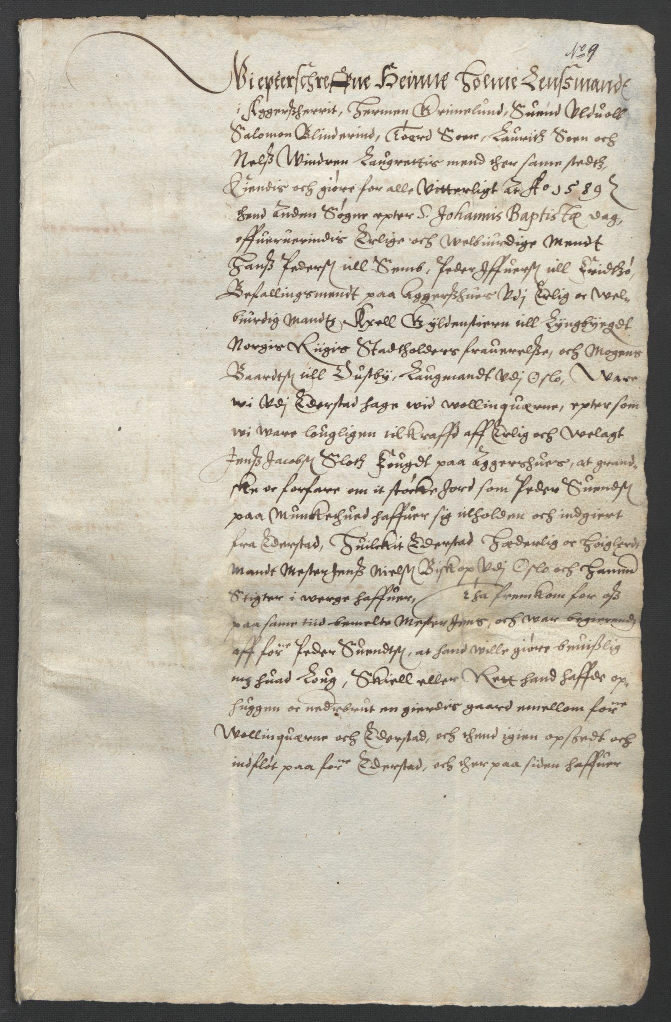 SAO, Oslo stiftsdireksjon, G/Gb/L0001: Bispestolens dokumenter, 1584-1612, s. 9