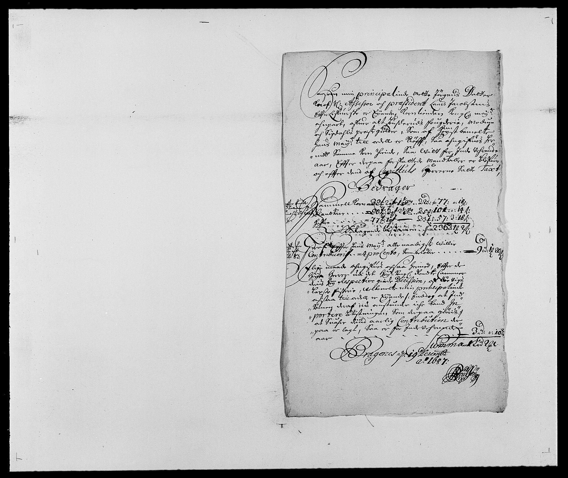 RA, Rentekammeret inntil 1814, Reviderte regnskaper, Fogderegnskap, R25/L1679: Fogderegnskap Buskerud, 1687-1688, s. 66