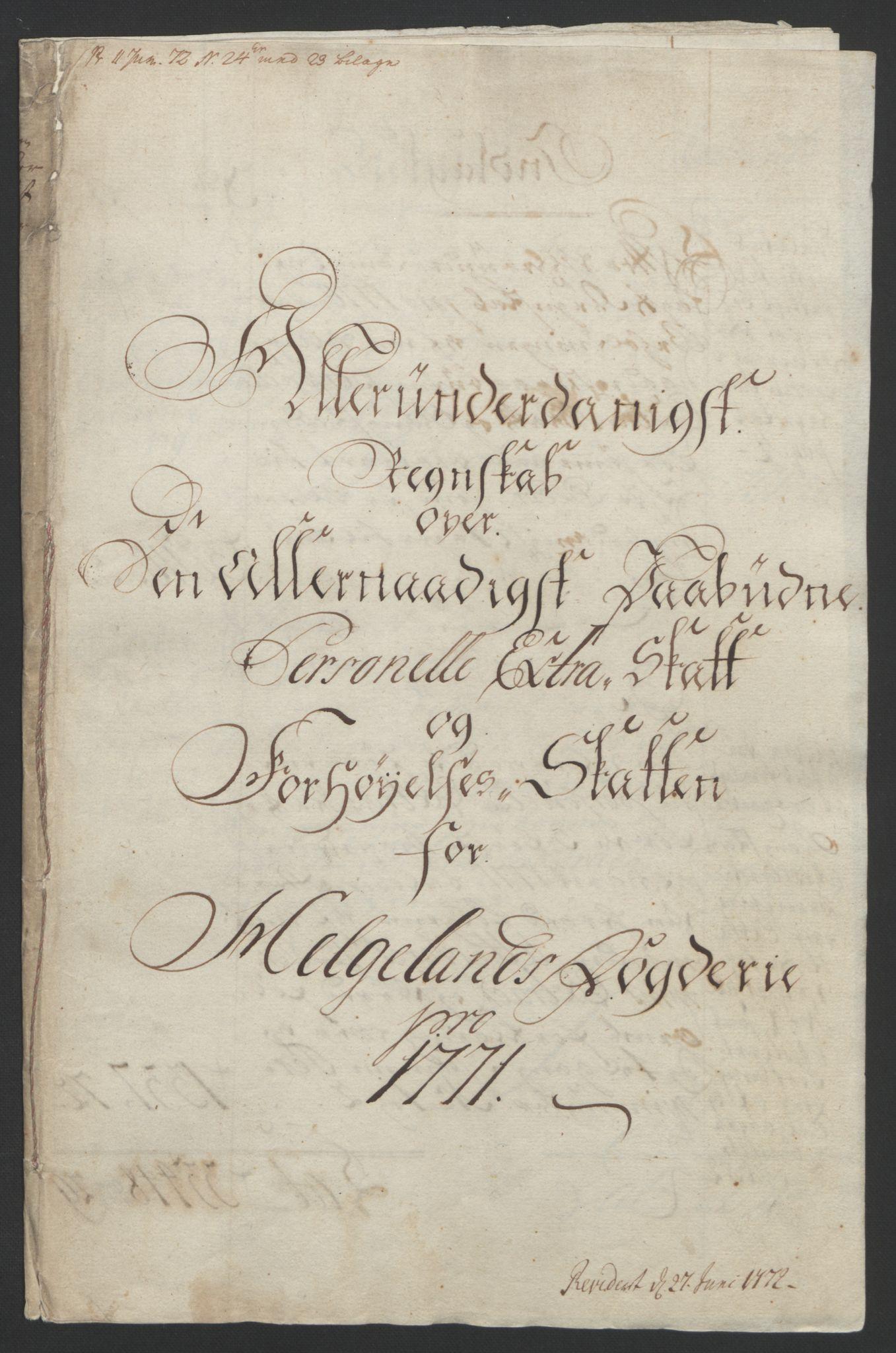 RA, Rentekammeret inntil 1814, Reviderte regnskaper, Fogderegnskap, R65/L4573: Ekstraskatten Helgeland, 1762-1772, s. 312
