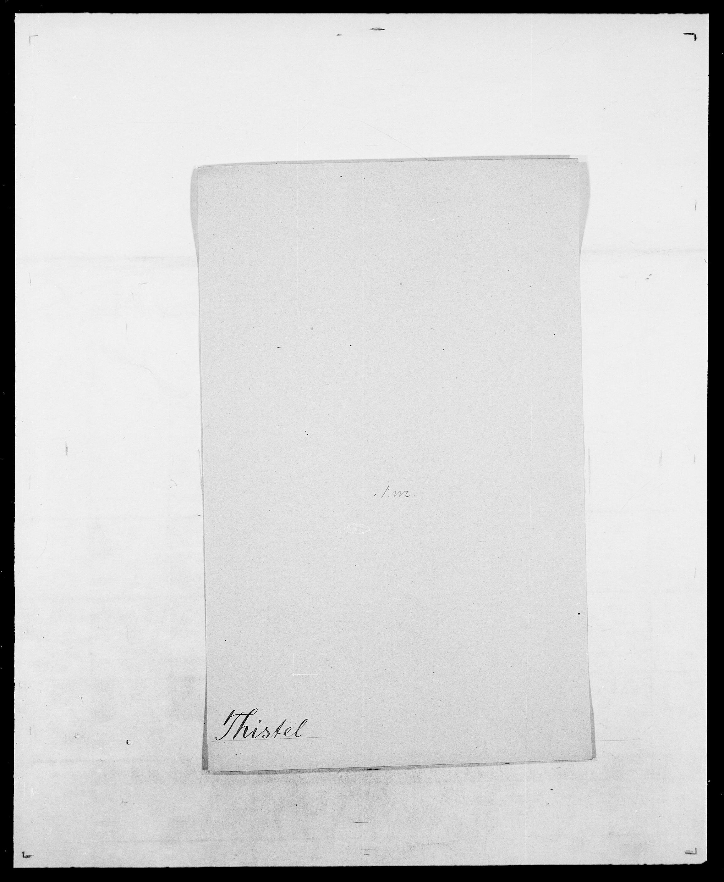 SAO, Delgobe, Charles Antoine - samling, D/Da/L0038: Svanenskjold - Thornsohn, s. 737