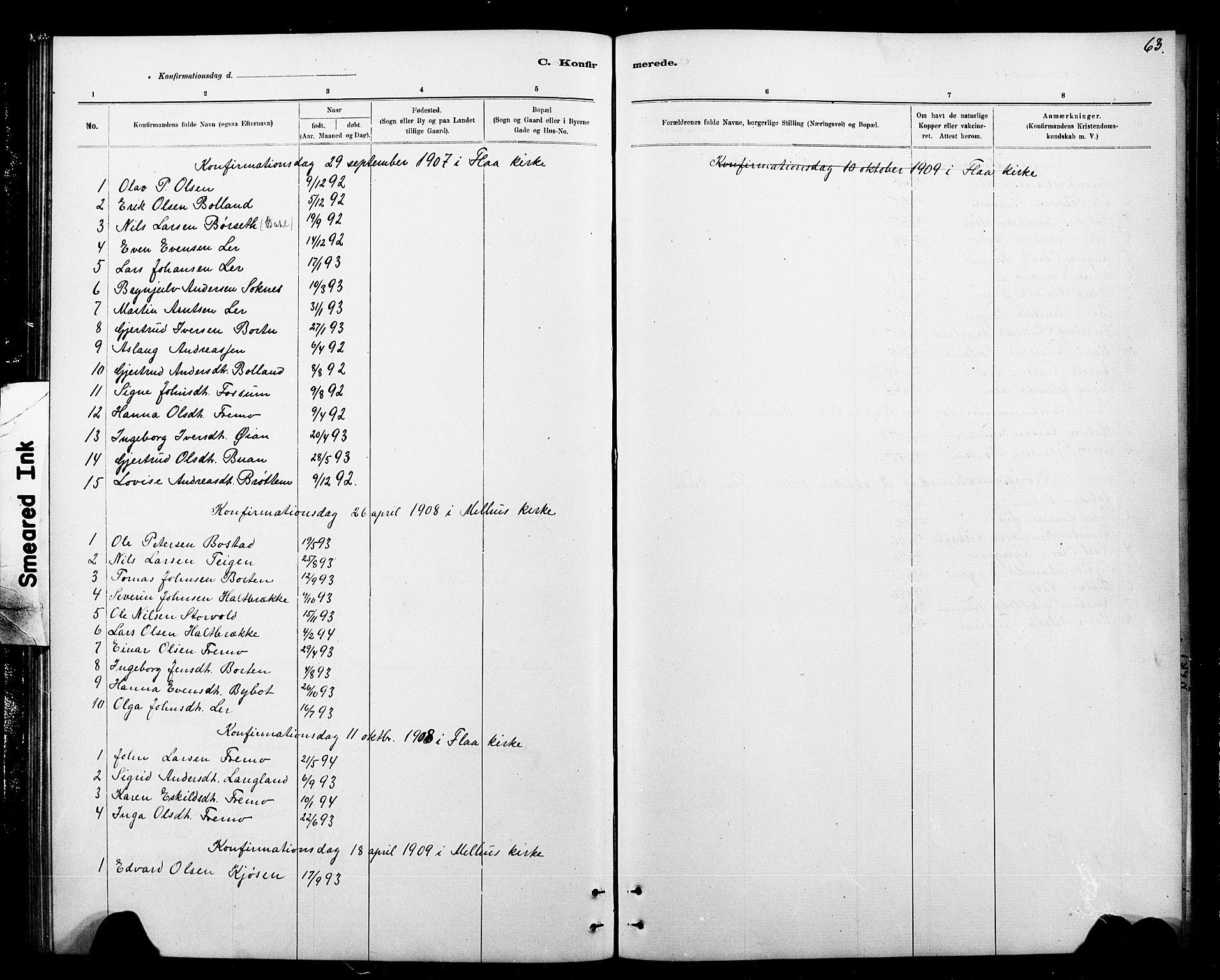 SAT, Ministerialprotokoller, klokkerbøker og fødselsregistre - Sør-Trøndelag, 693/L1123: Klokkerbok nr. 693C04, 1887-1910, s. 63