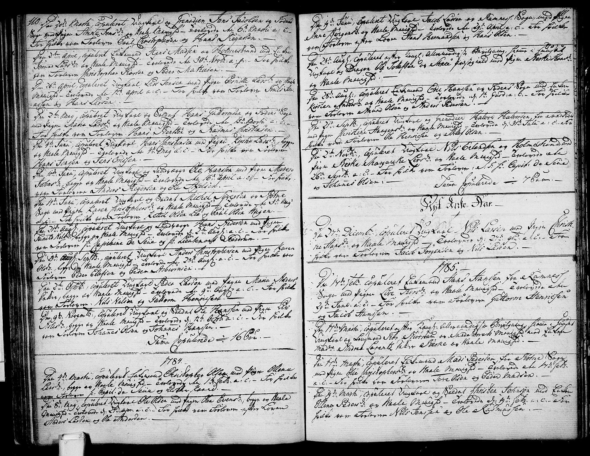 SAKO, Våle kirkebøker, F/Fa/L0005: Ministerialbok nr. I 5, 1773-1808, s. 110-111