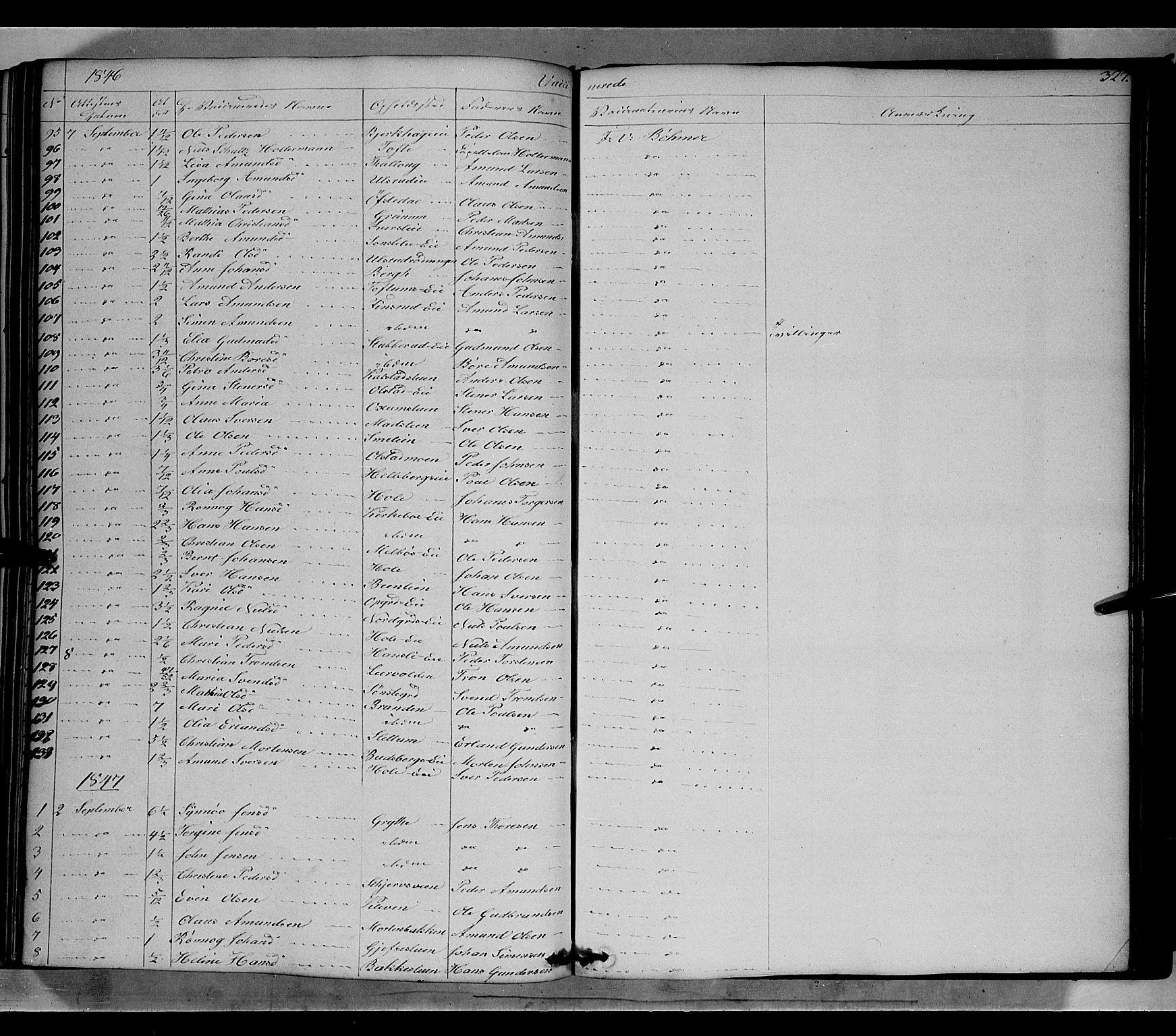 SAH, Gausdal prestekontor, Ministerialbok nr. 7, 1840-1850, s. 327