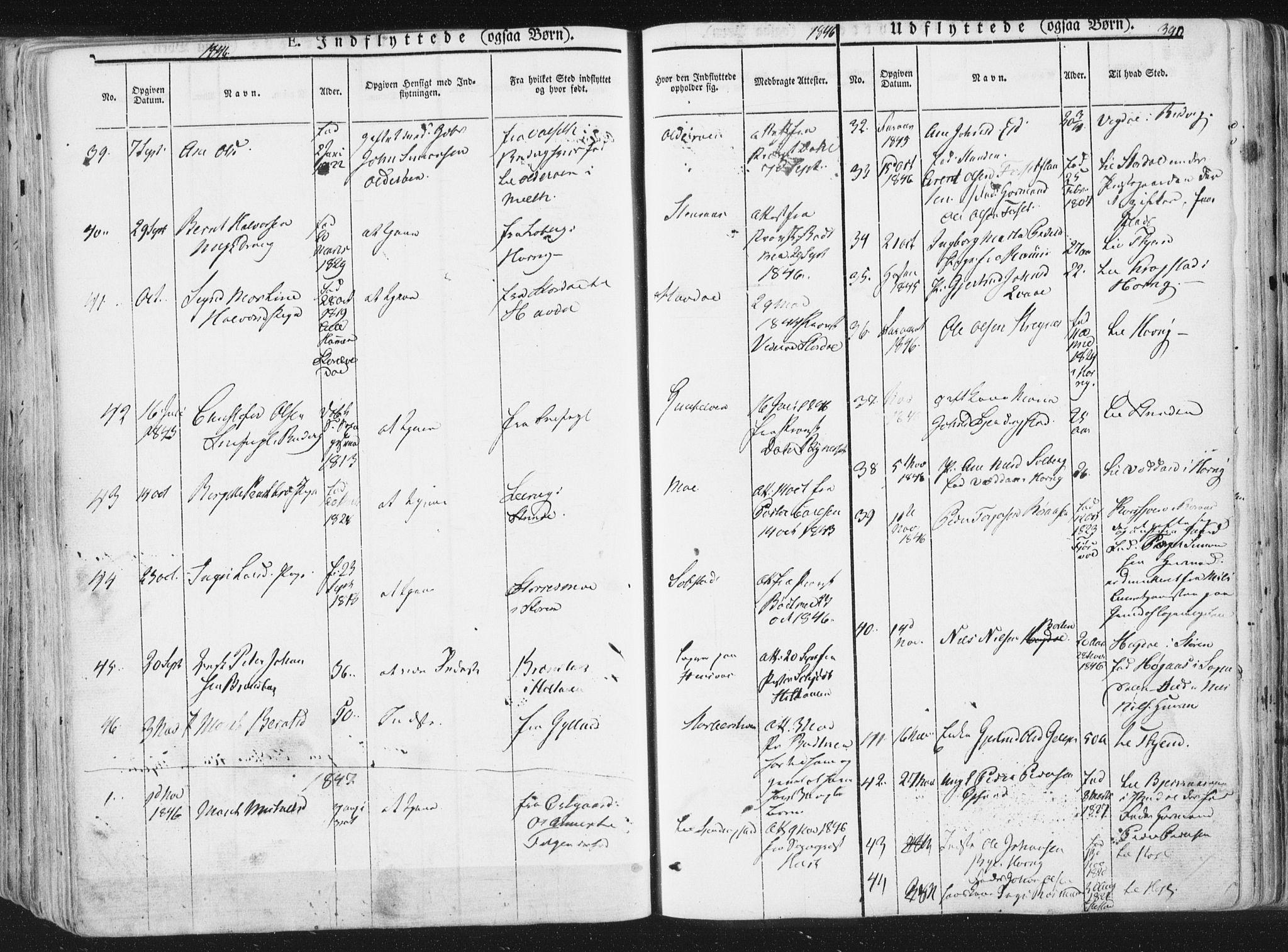 SAT, Ministerialprotokoller, klokkerbøker og fødselsregistre - Sør-Trøndelag, 691/L1074: Ministerialbok nr. 691A06, 1842-1852, s. 390