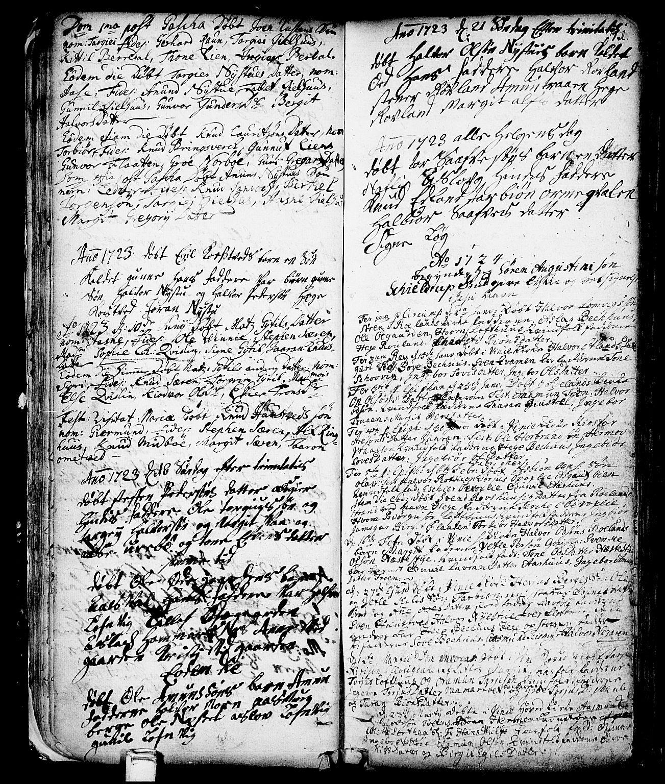 SAKO, Vinje kirkebøker, F/Fa/L0001: Ministerialbok nr. I 1, 1717-1766, s. 71