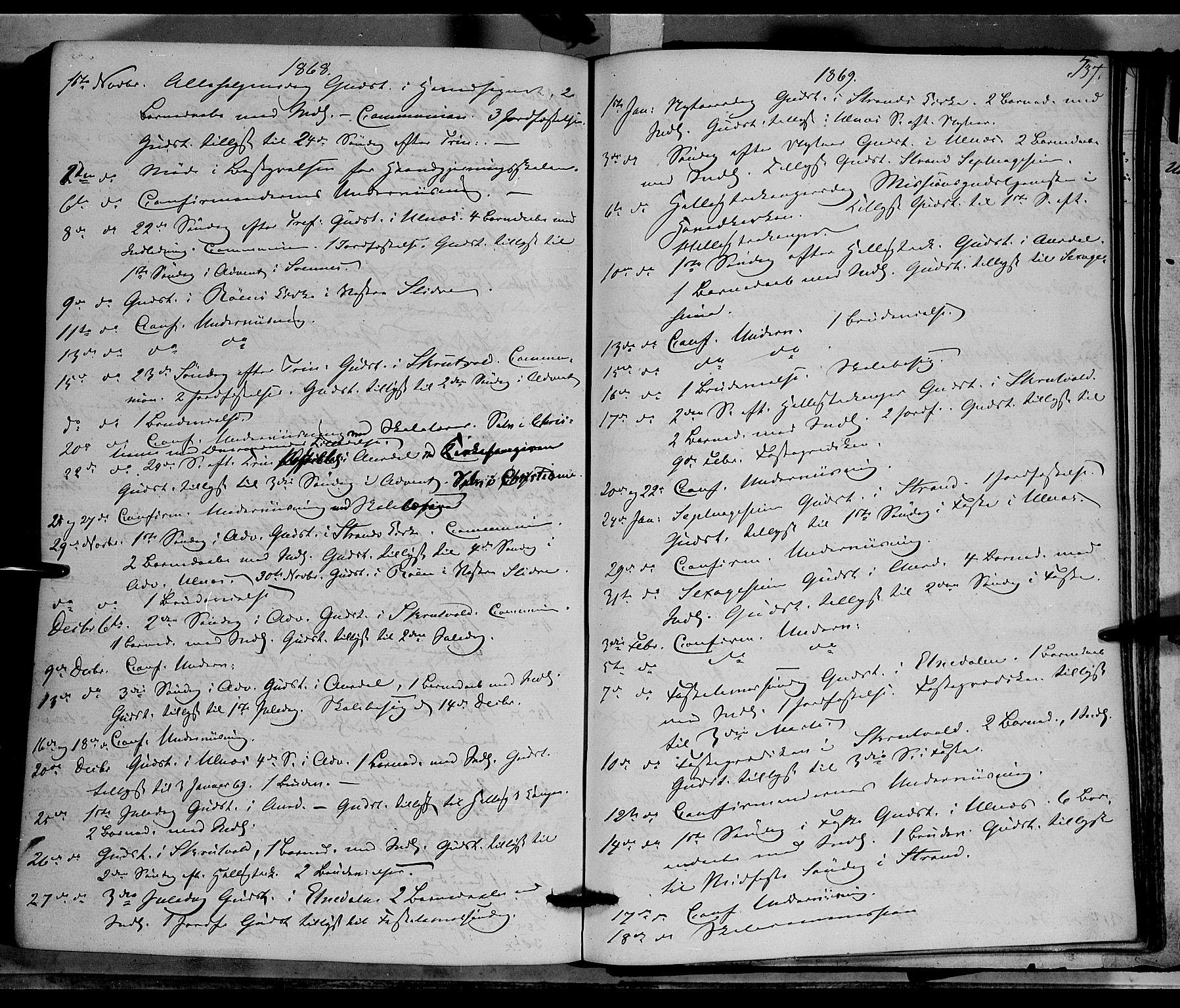SAH, Nord-Aurdal prestekontor, Ministerialbok nr. 8, 1863-1875, s. 537