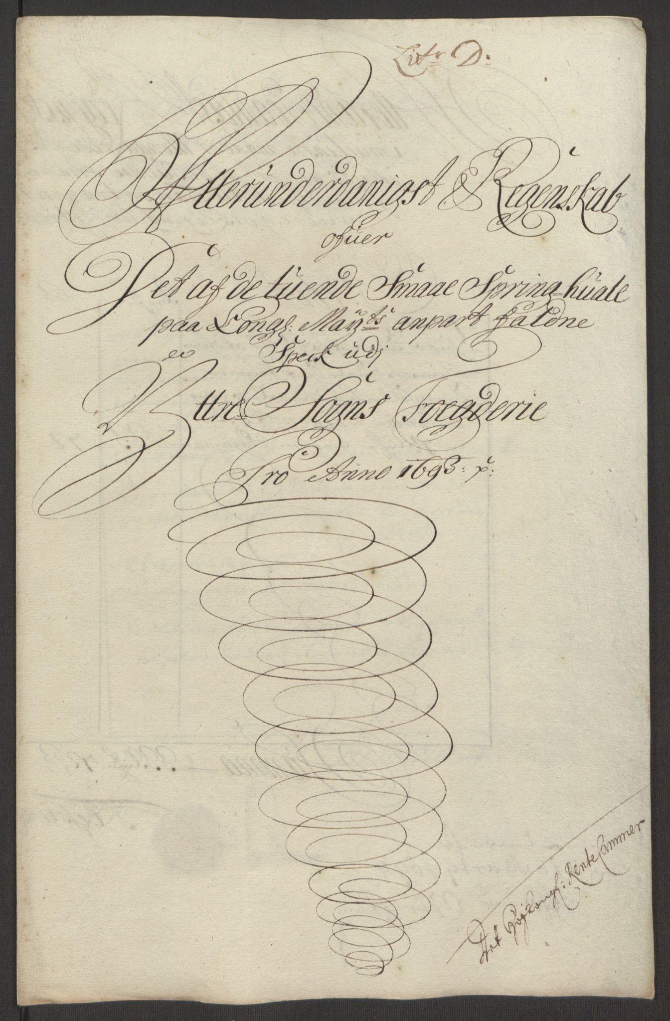 RA, Rentekammeret inntil 1814, Reviderte regnskaper, Fogderegnskap, R52/L3307: Fogderegnskap Sogn, 1693-1694, s. 220