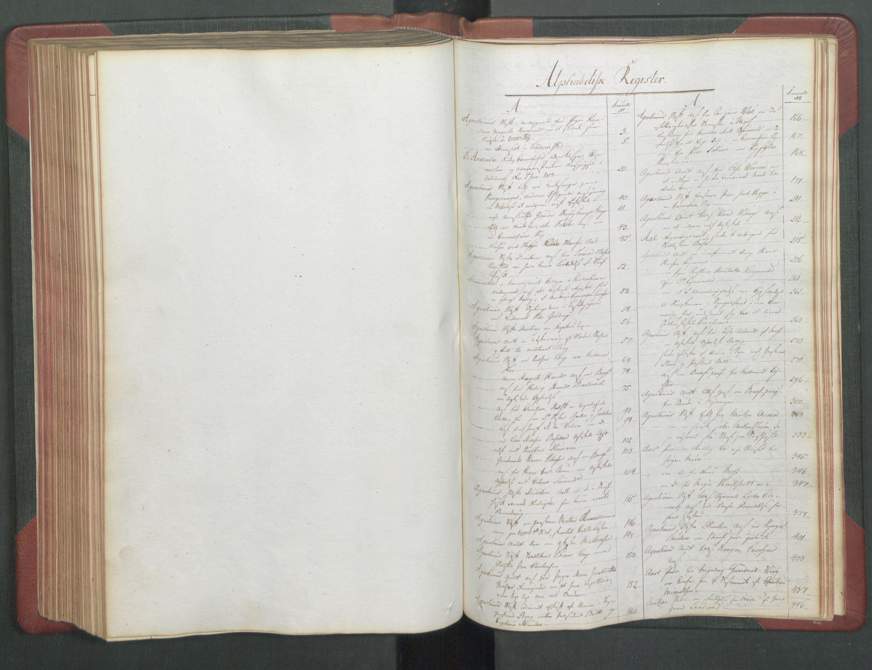 RA, Departementene i 1814, Fc/L0039: Journal A, 1814, s. 207