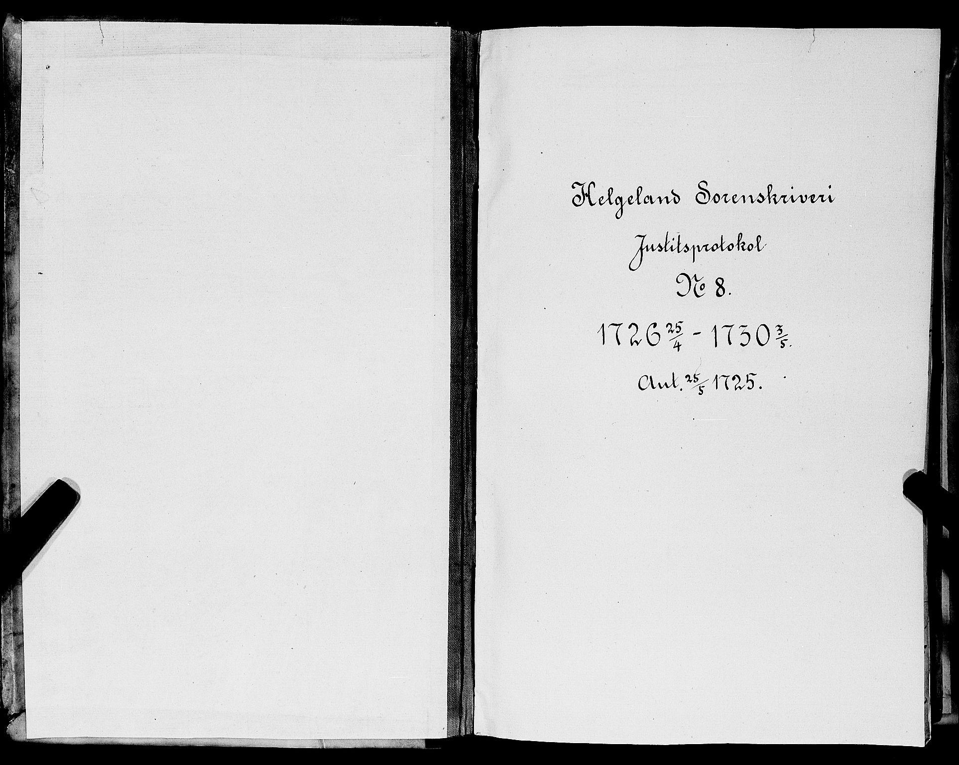 SAT, Helgeland sorenskriveri, 1/1A/L0007: Tingbok 8, 1726-1730