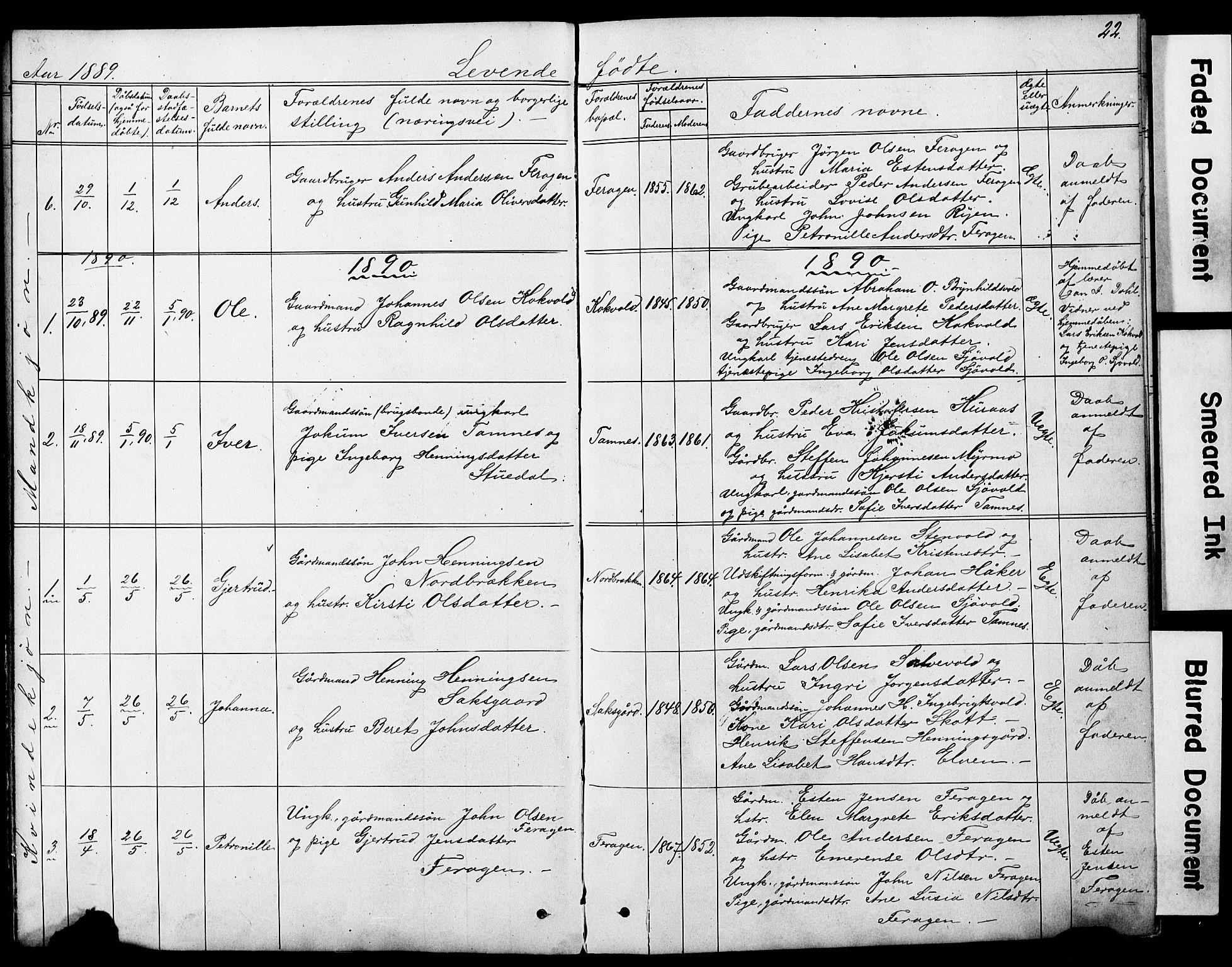 SAT, Ministerialprotokoller, klokkerbøker og fødselsregistre - Sør-Trøndelag, 683/L0949: Klokkerbok nr. 683C01, 1880-1896, s. 22