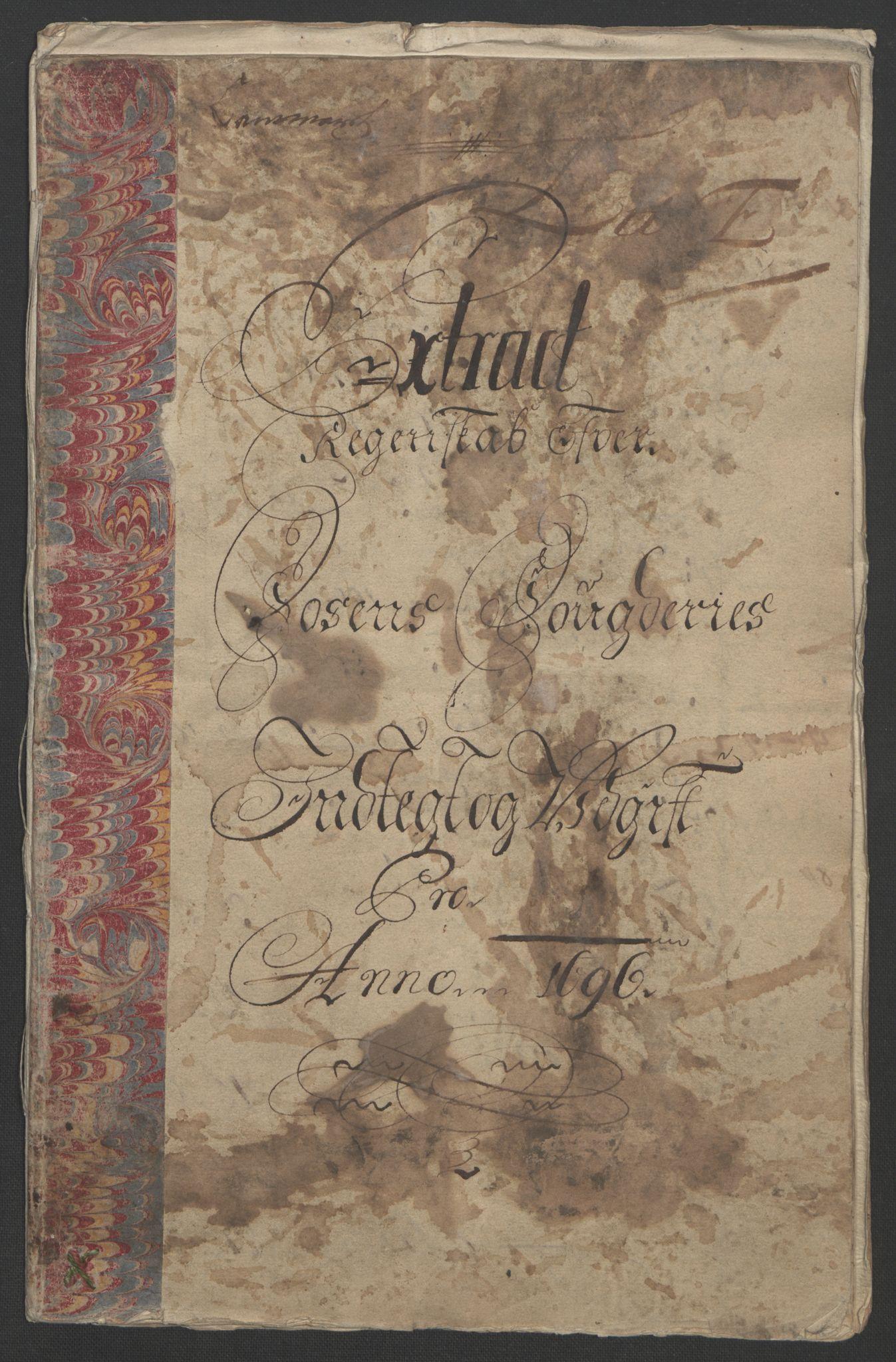 RA, Rentekammeret inntil 1814, Reviderte regnskaper, Fogderegnskap, R57/L3851: Fogderegnskap Fosen, 1695-1696, s. 193