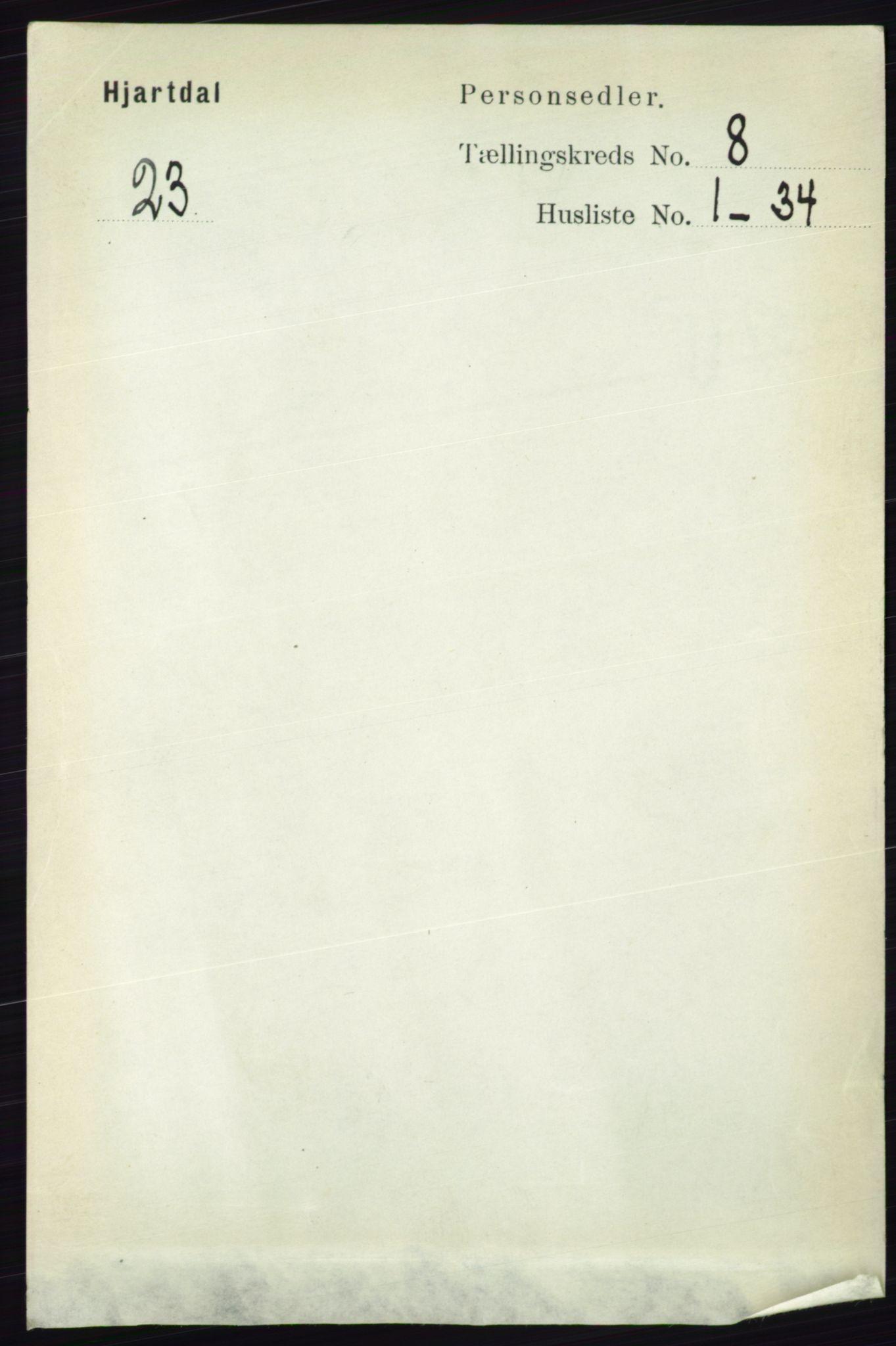RA, Folketelling 1891 for 0827 Hjartdal herred, 1891, s. 2806
